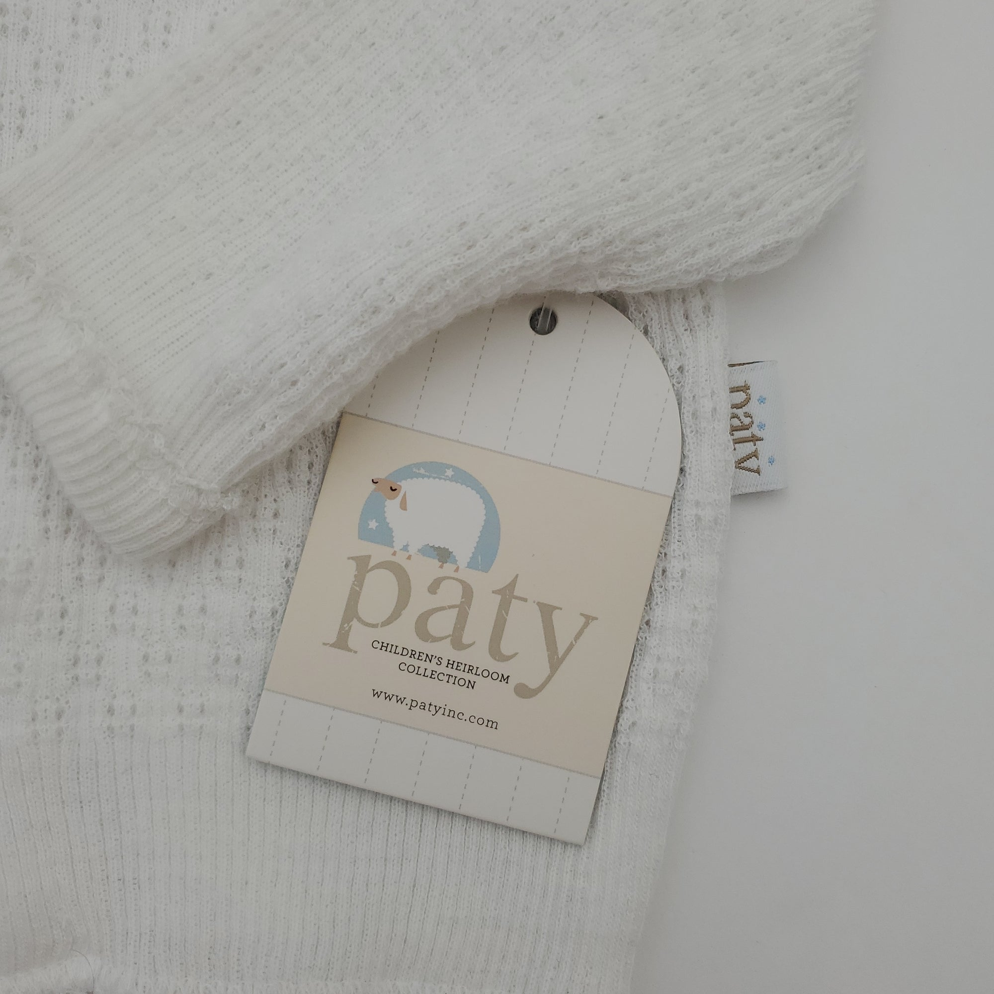 Paty Pearl Button Cardigan - White