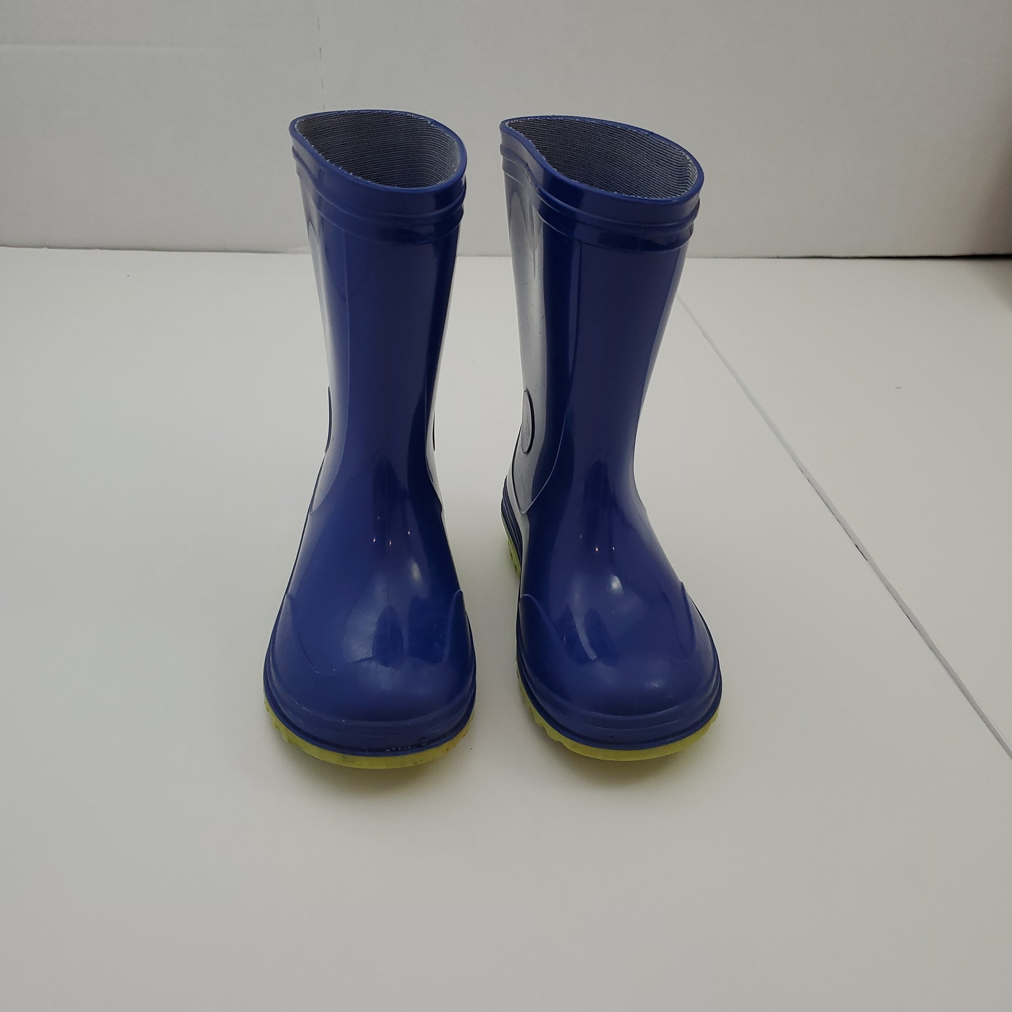 Resale C12 Navy Blue / Green Rainboots