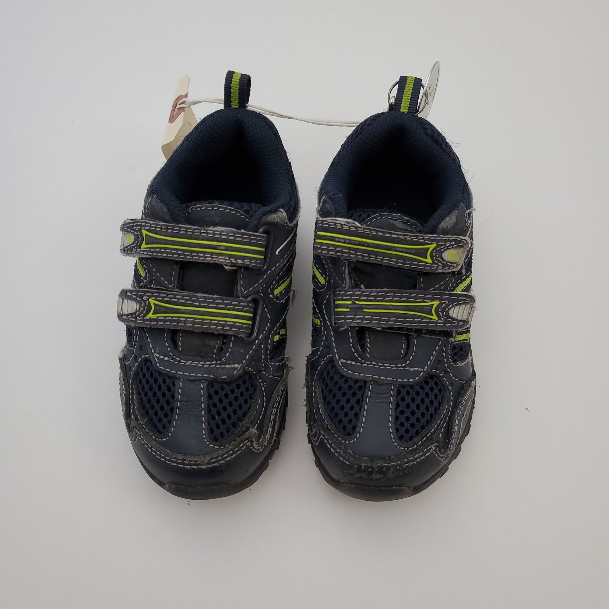 Resale C8.5 Stride Rite Velcro Tab Shoes - Navy Blue