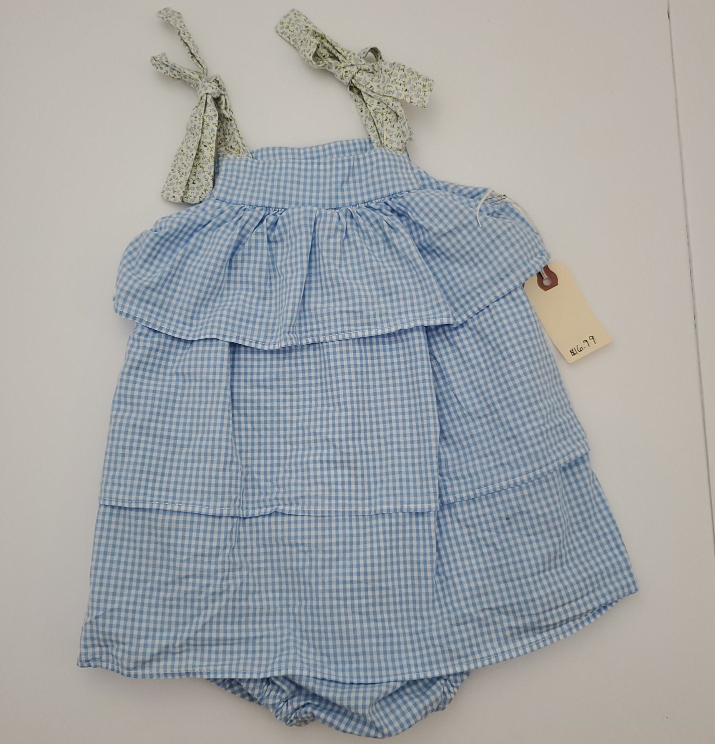 Resale 2T Alice Kathleen & Co Blue Gingham Romper