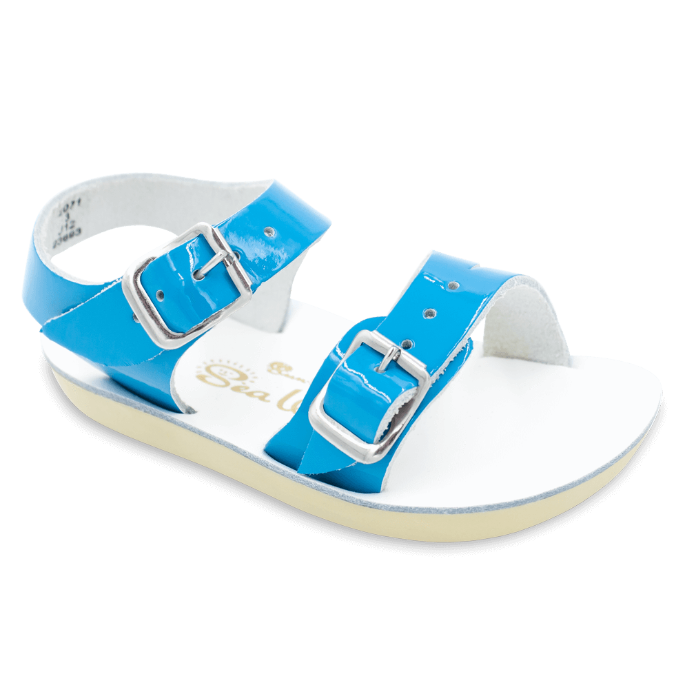 Salt Water Sandals Sea Wee in Shiny Turquoise, 2071