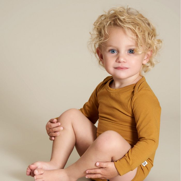 Müsli Cozy Me Solid Color Long-Sleeve Bodysuit