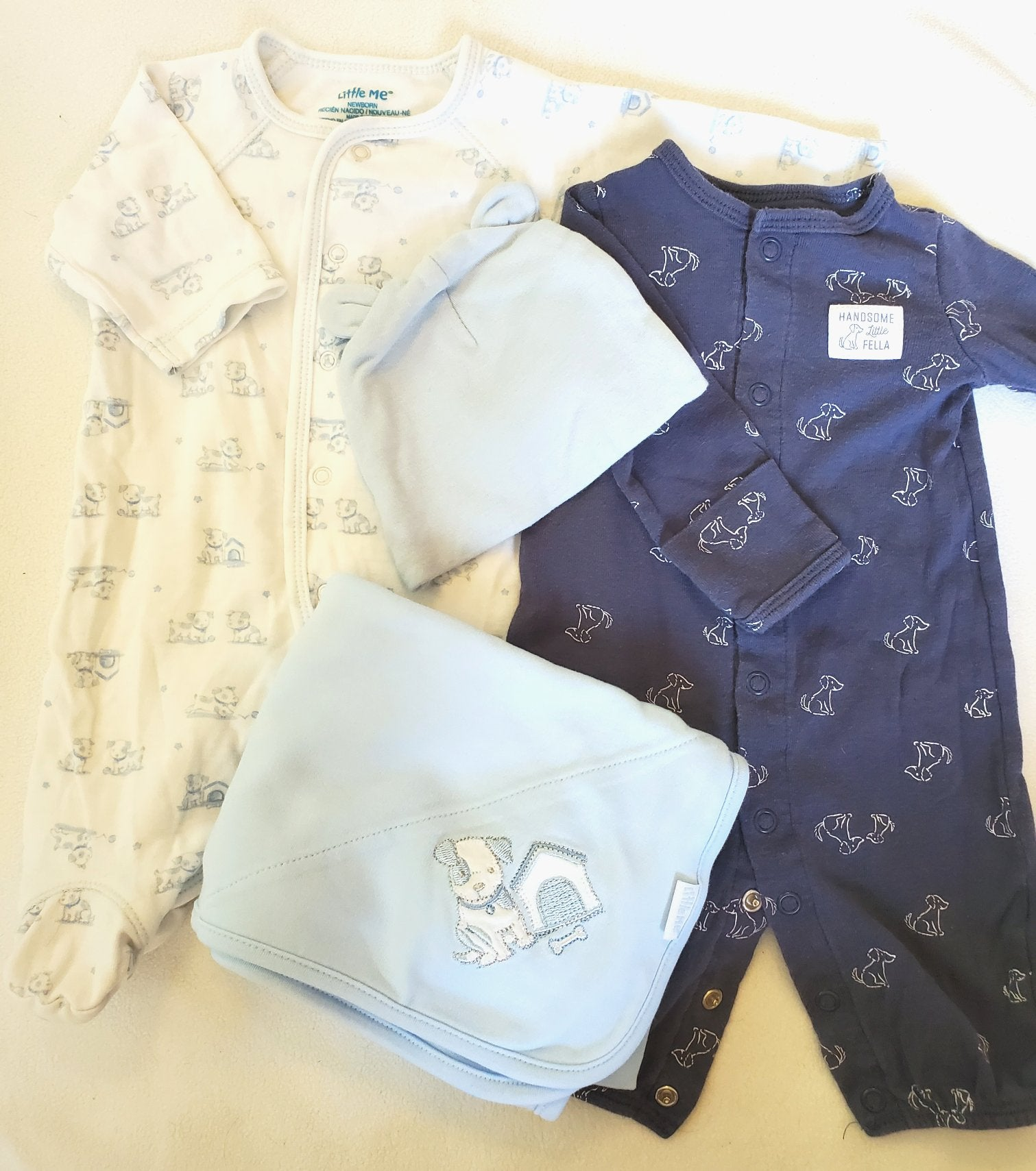 Resale Newborn Carters/Little Me Puppy Set