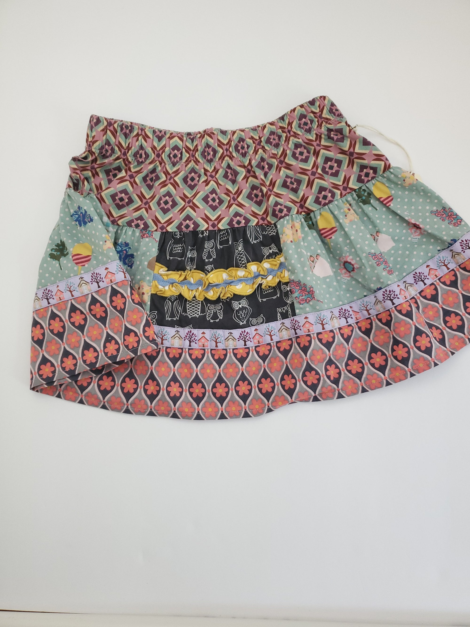 Resale 4T Matilda Jane Skirt - Owl / Fall Multi Print