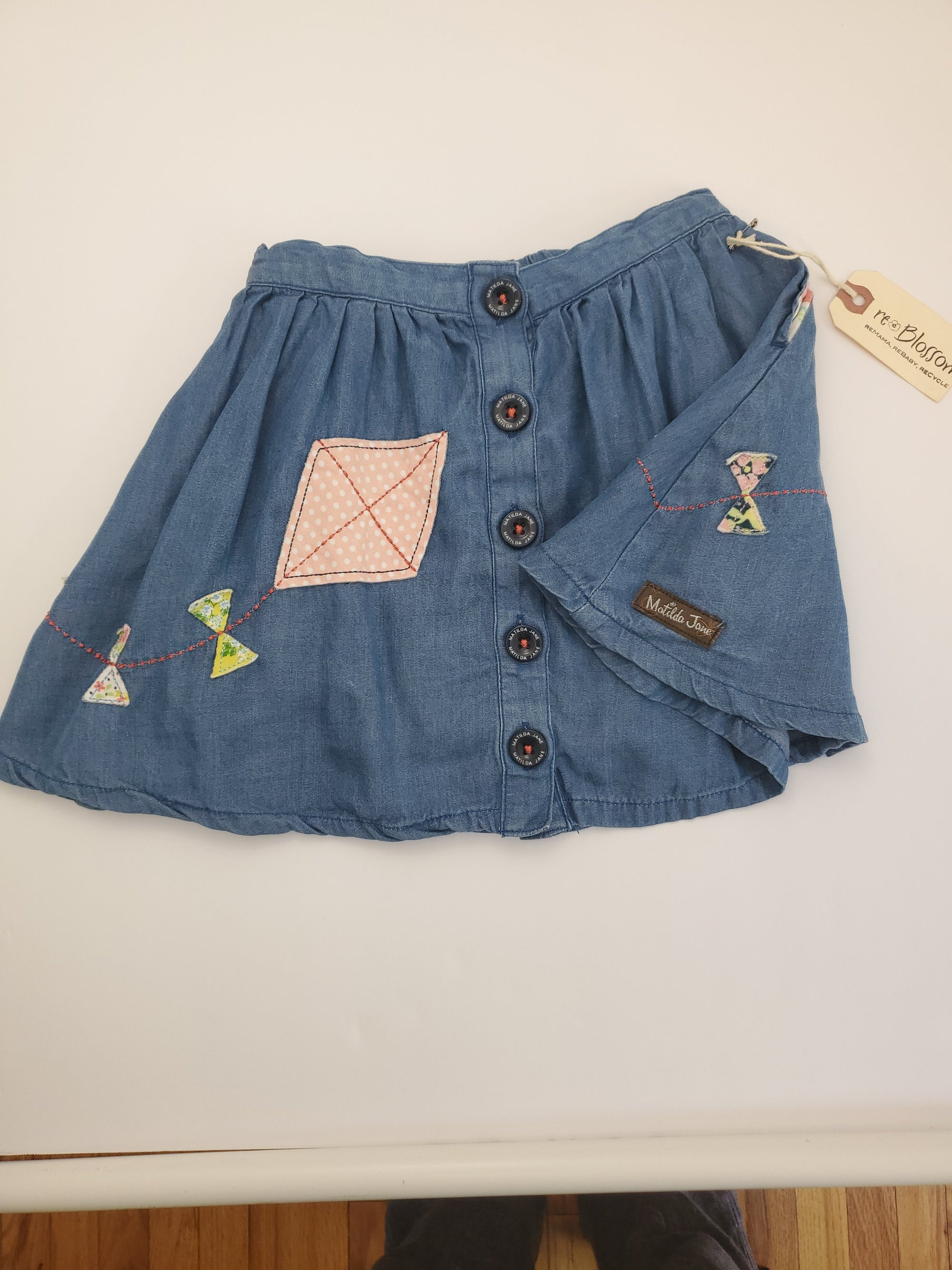 Resale 2T Matilda Jane Denim Kite Skirt