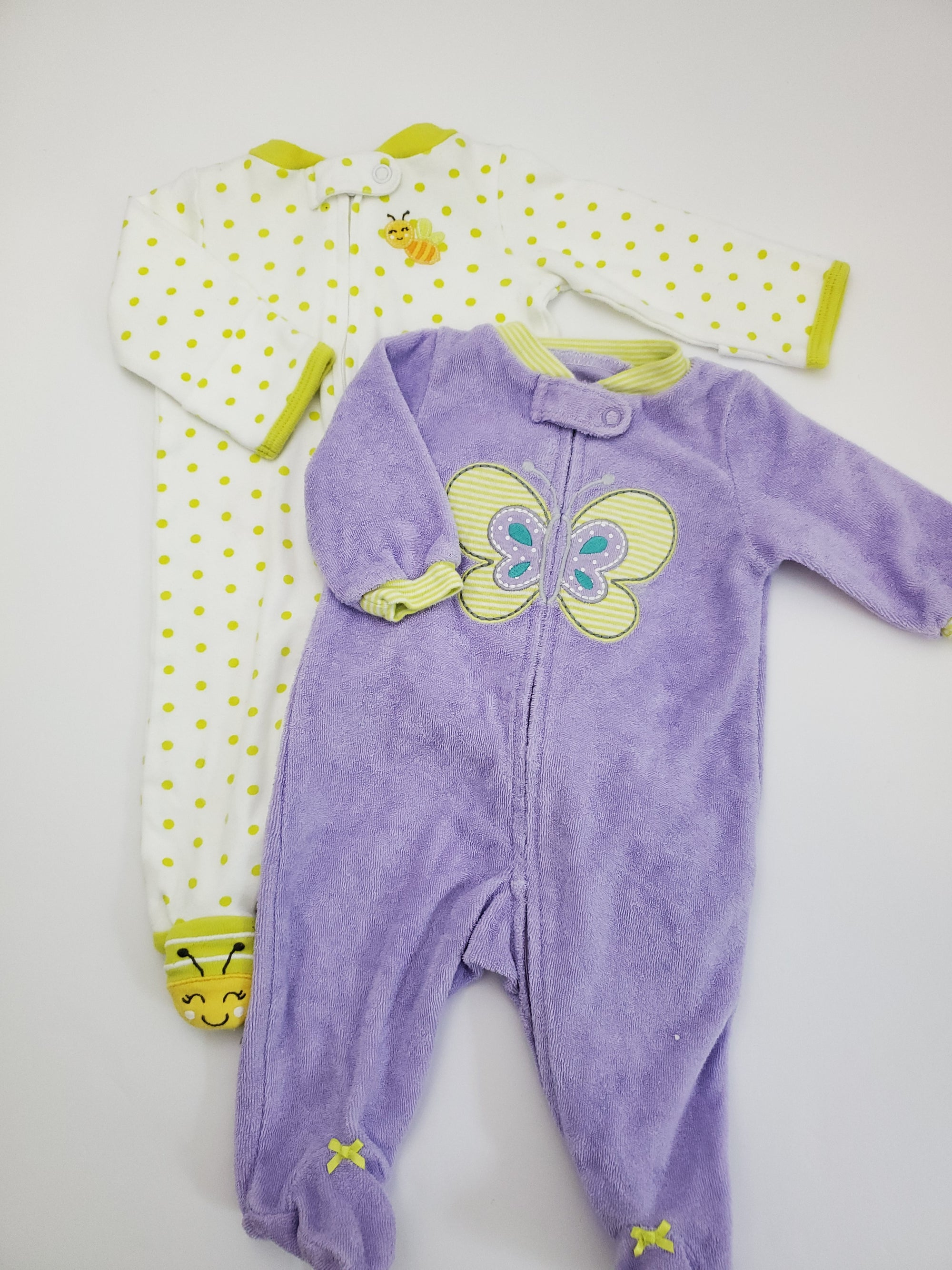 Resale Newborn Carter's Footed Pajamas Set - Butterfly / Bees