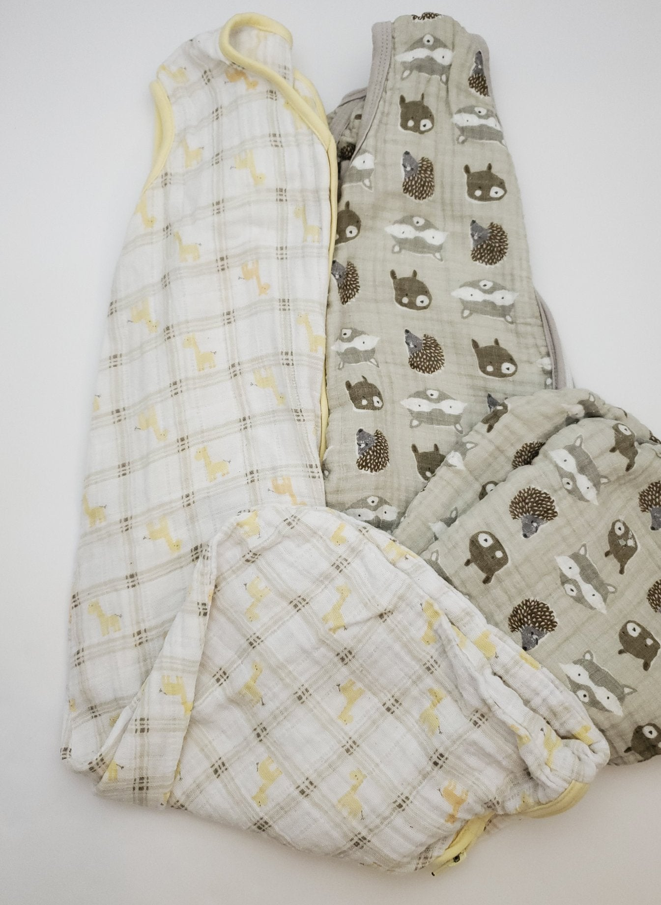 Resale Medium / 6-12 m Halo & Patina Vie Baby Sleep Sack Set - Giraffes & Owls