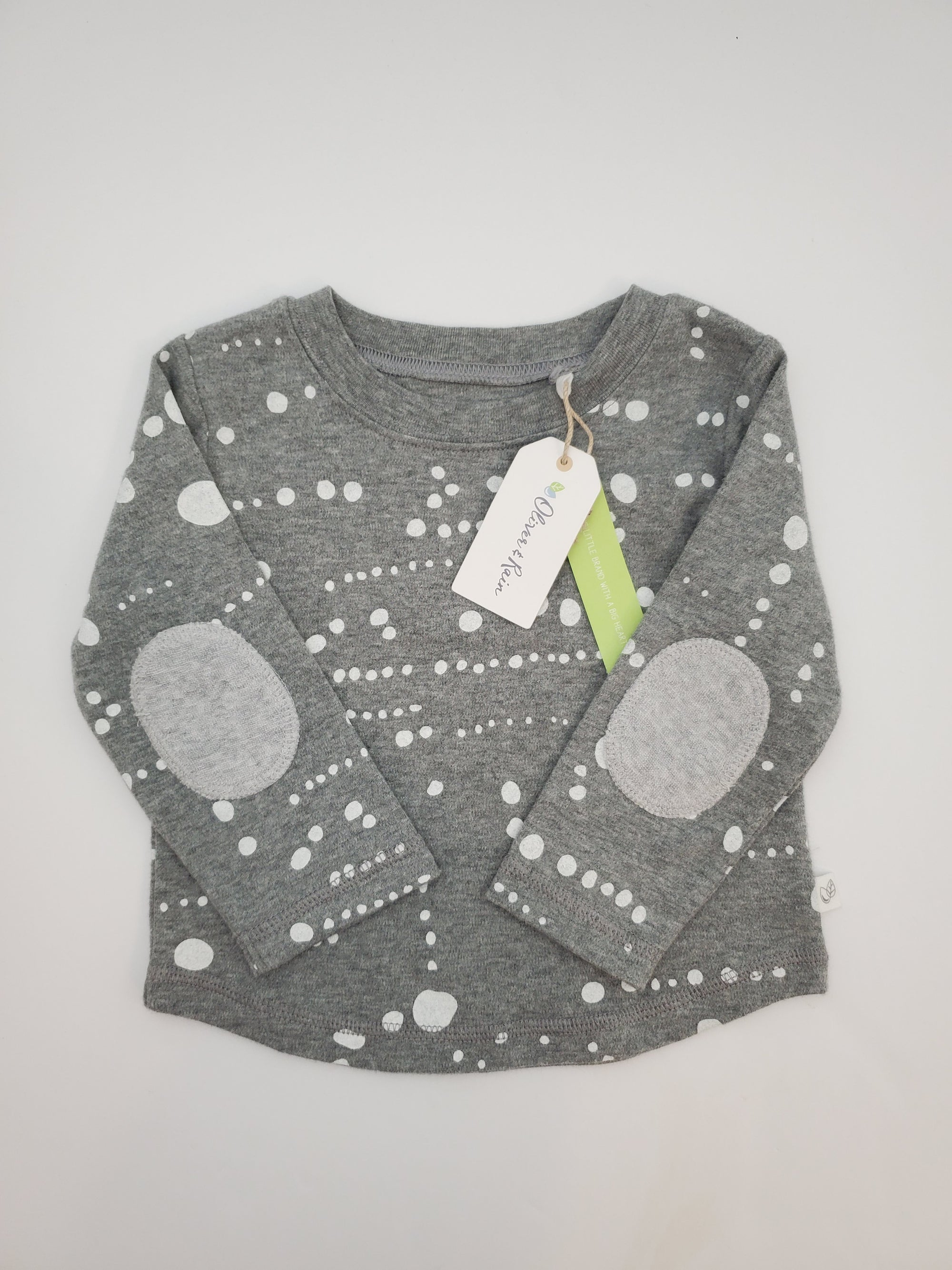 Oliver & Rain Dot Print Grey Shirt