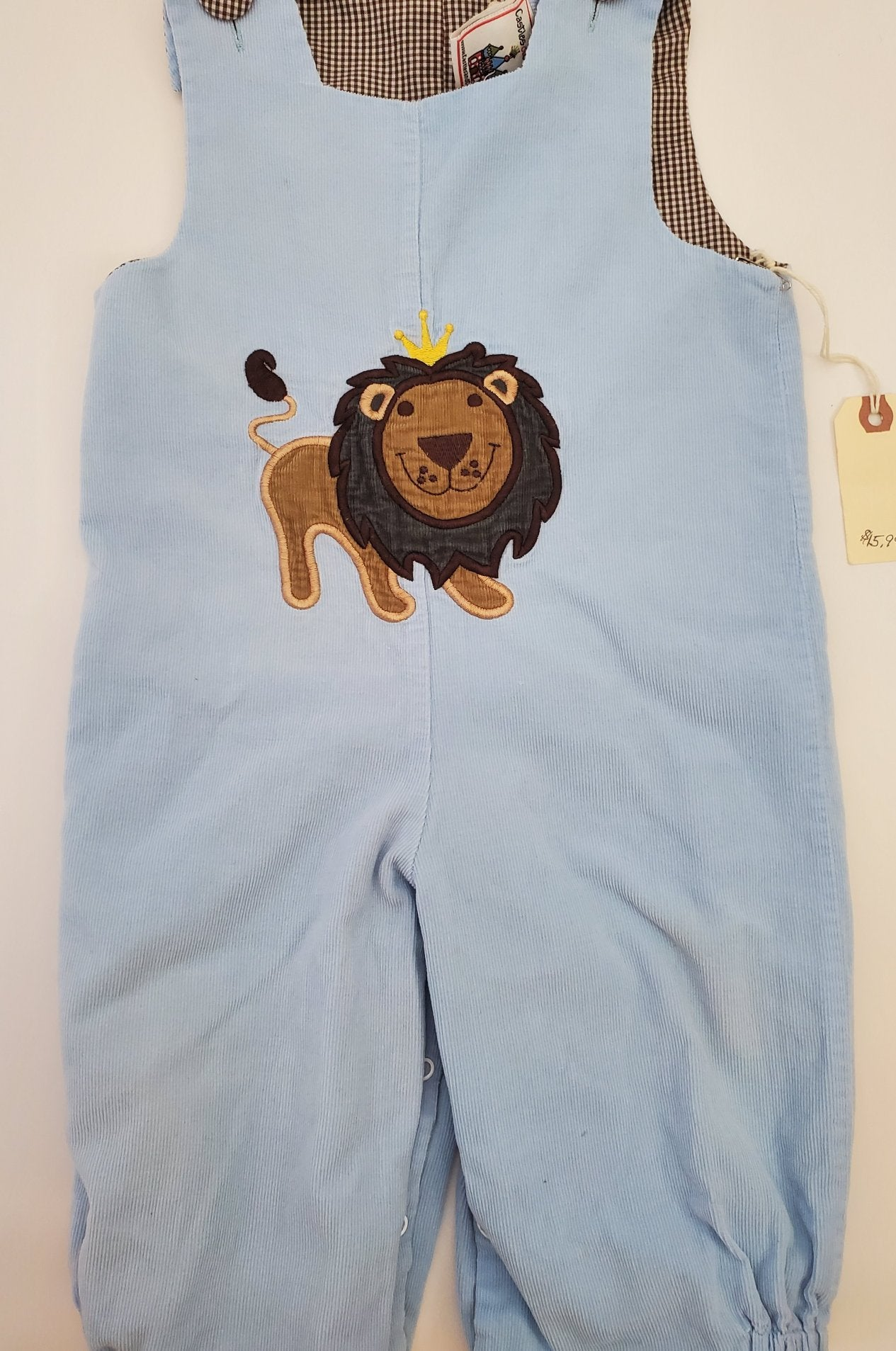 Resale 12 m Castle & Crowns Reversible Smocked Overalls - Car & Lion