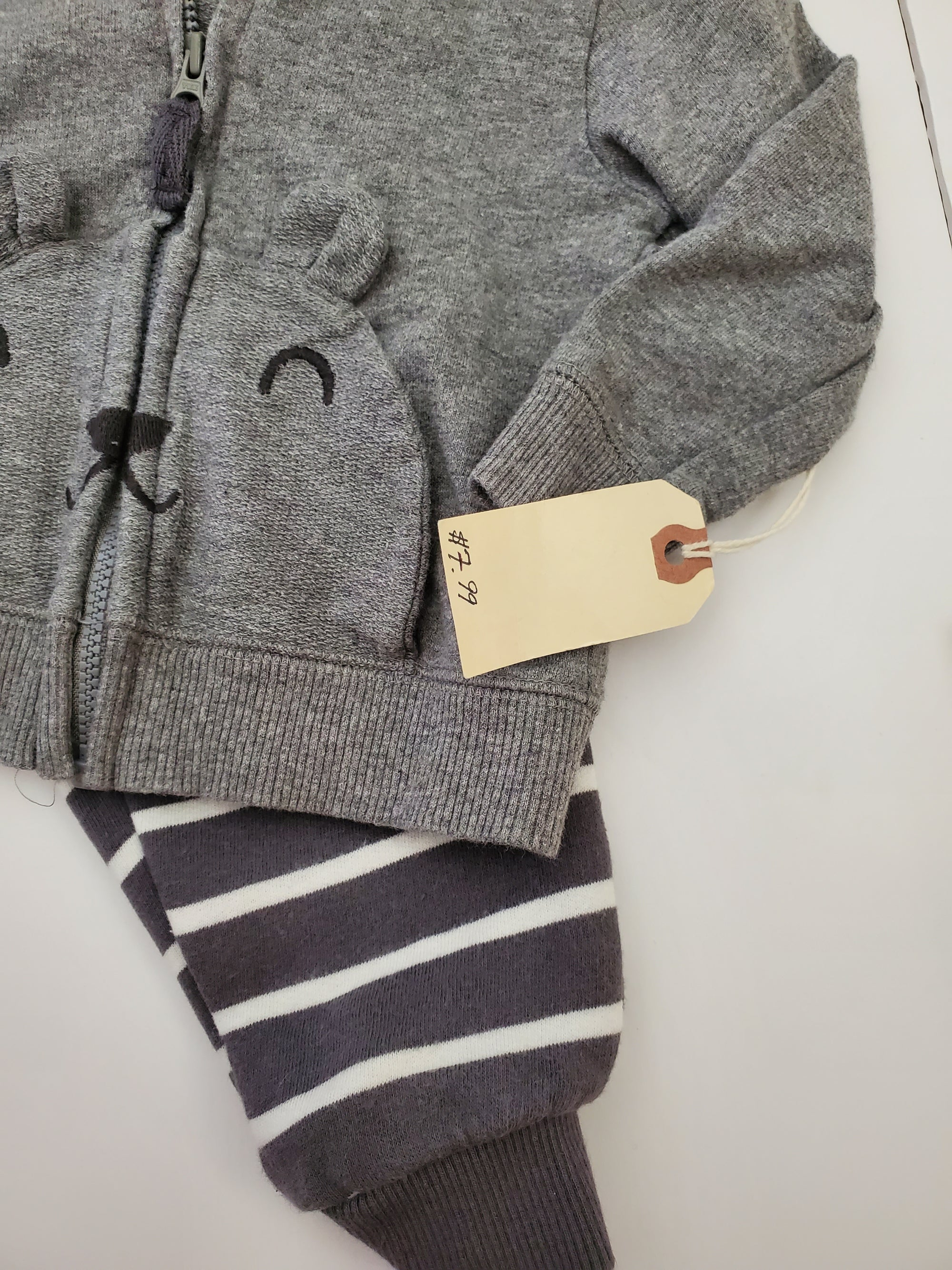 Resale 9 m Carter's Grey Bear Outfit