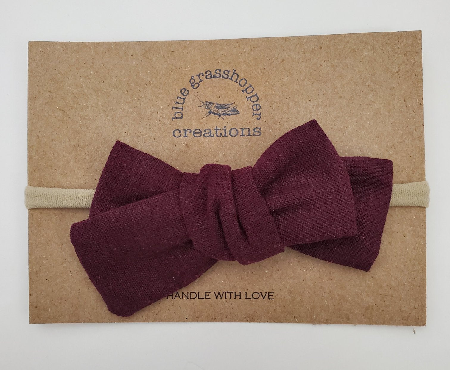Blue Grasshopper Creations Merlot Bow Headband