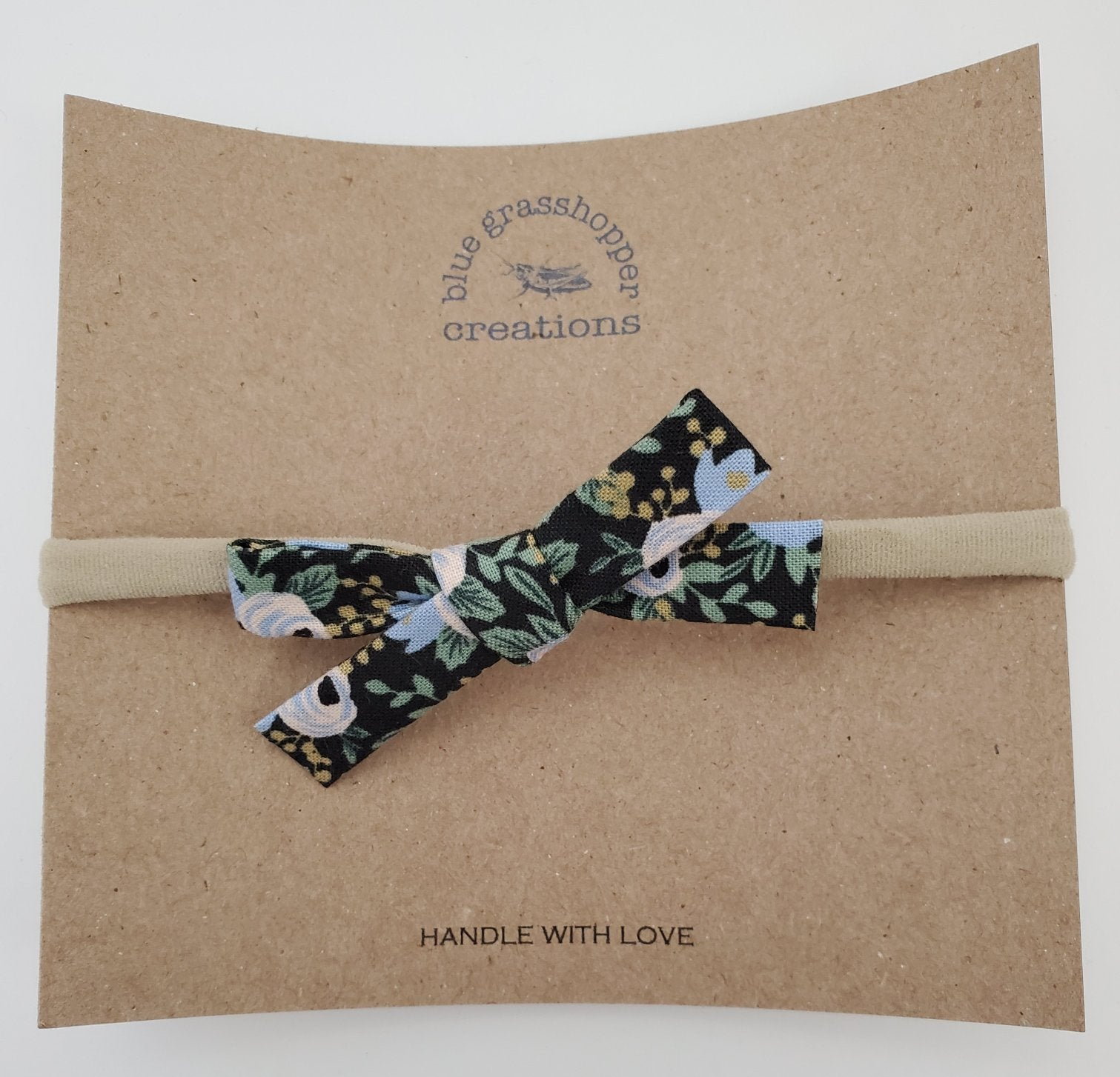 Blue Grasshopper Creations Floral Bow Headband