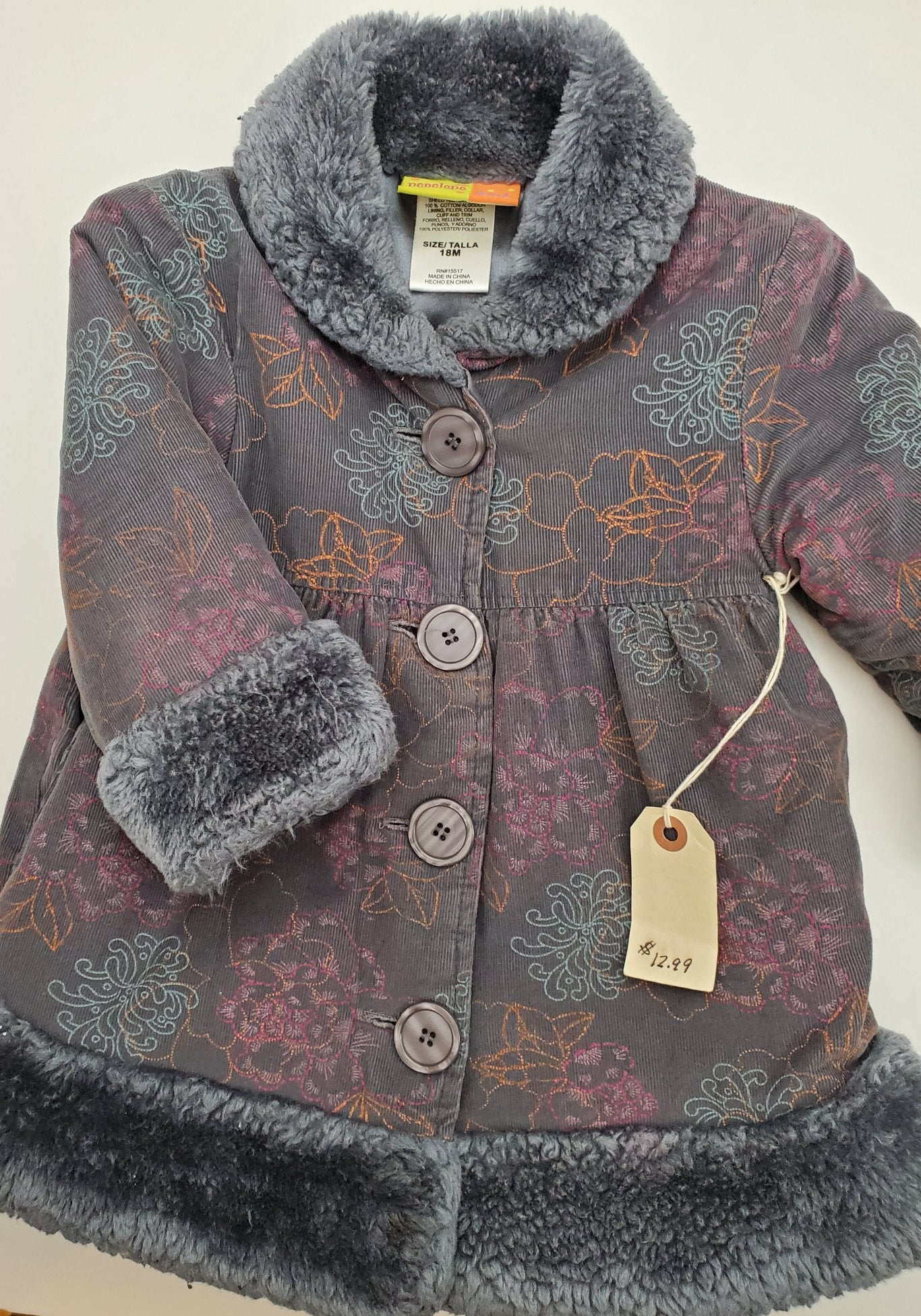 Resale 18 m Penelope Mack Grey Floral Jacket