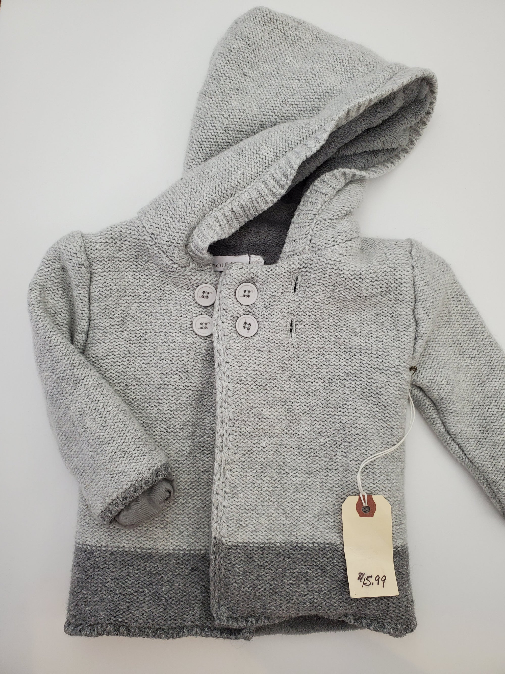 Resale 12 m Noukie's Hooded Sweater - Grey