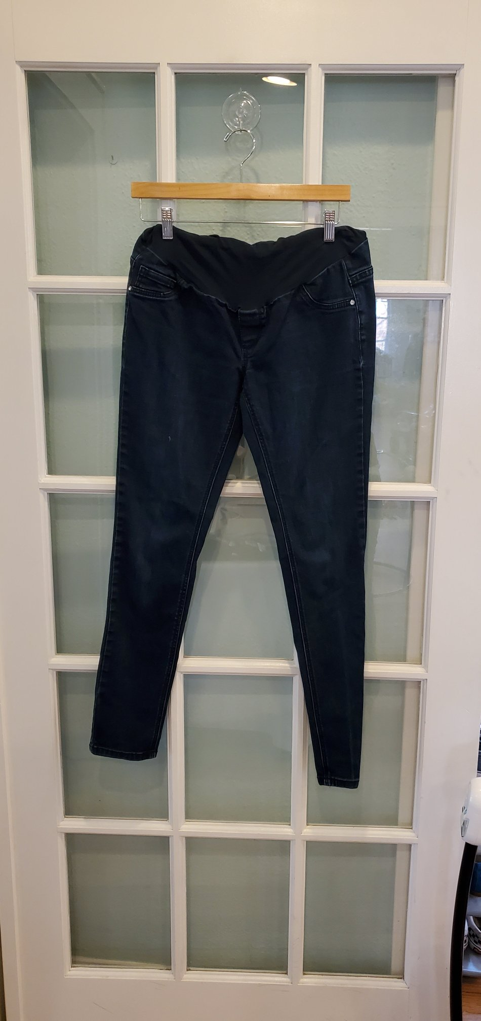 Resale Indigo Blue Maternity Ankle Jeans with Full Panel - Size Medium