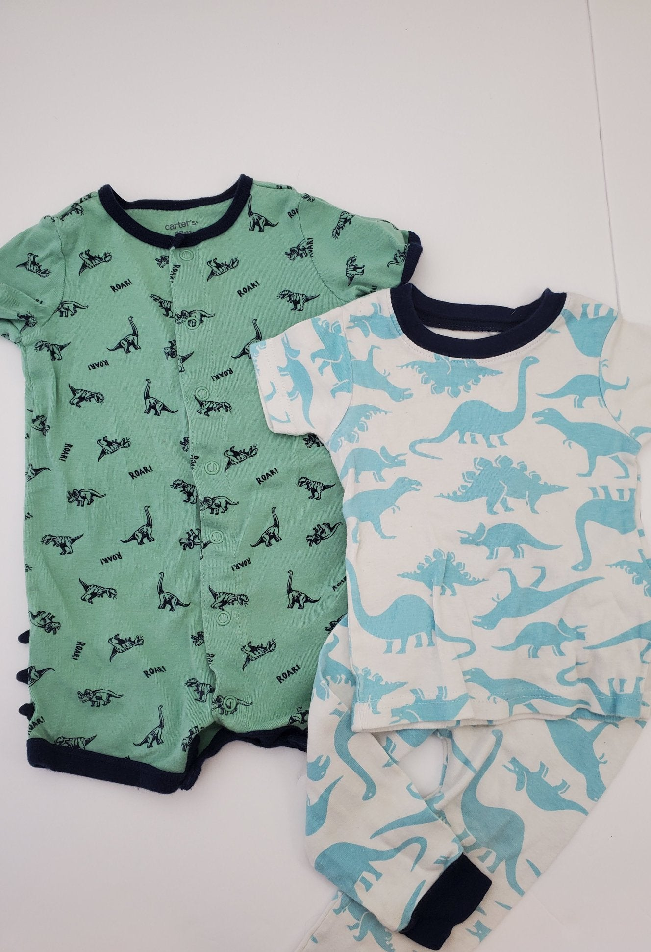 Resale 12 m Carter's Dino Romper & Pajamas - 3pc Set