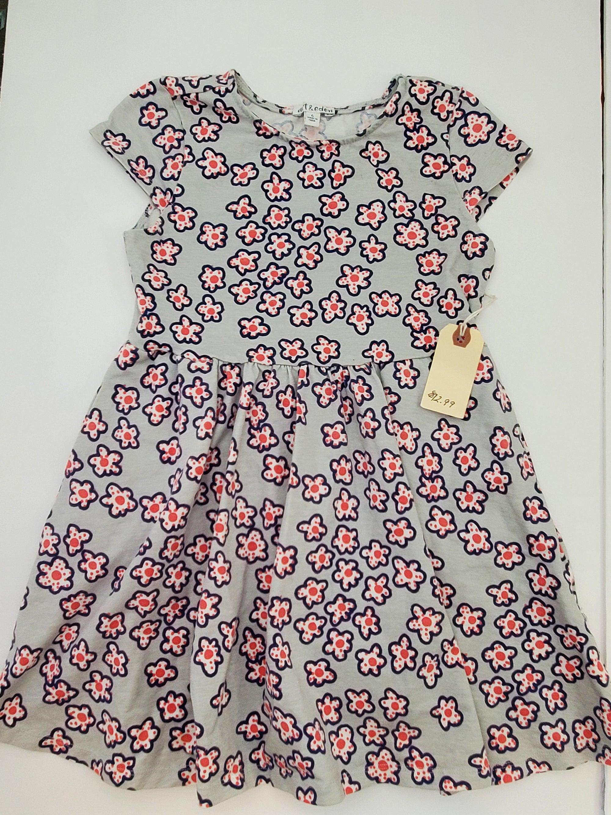 Resale 6Y Art & Eden Organic Cotton Dress - Blue Floral