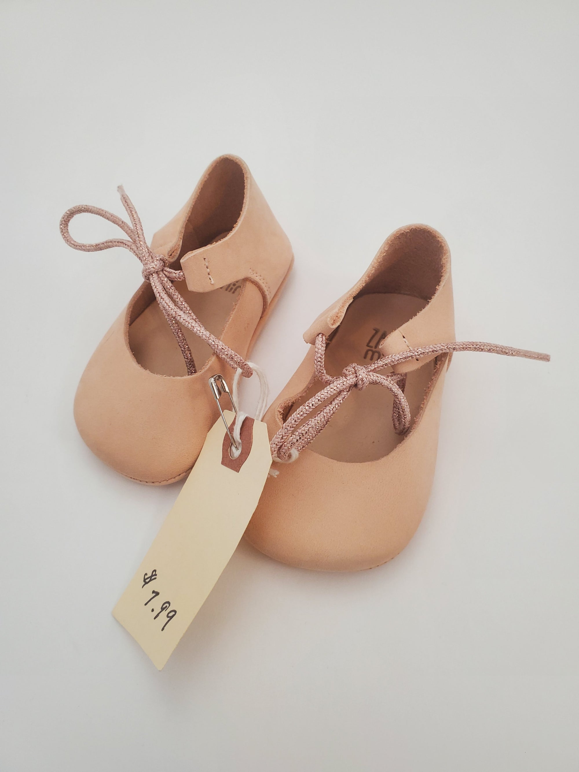 C1 Mini Zara Infant Soft Sole Shoes - Blush Pink