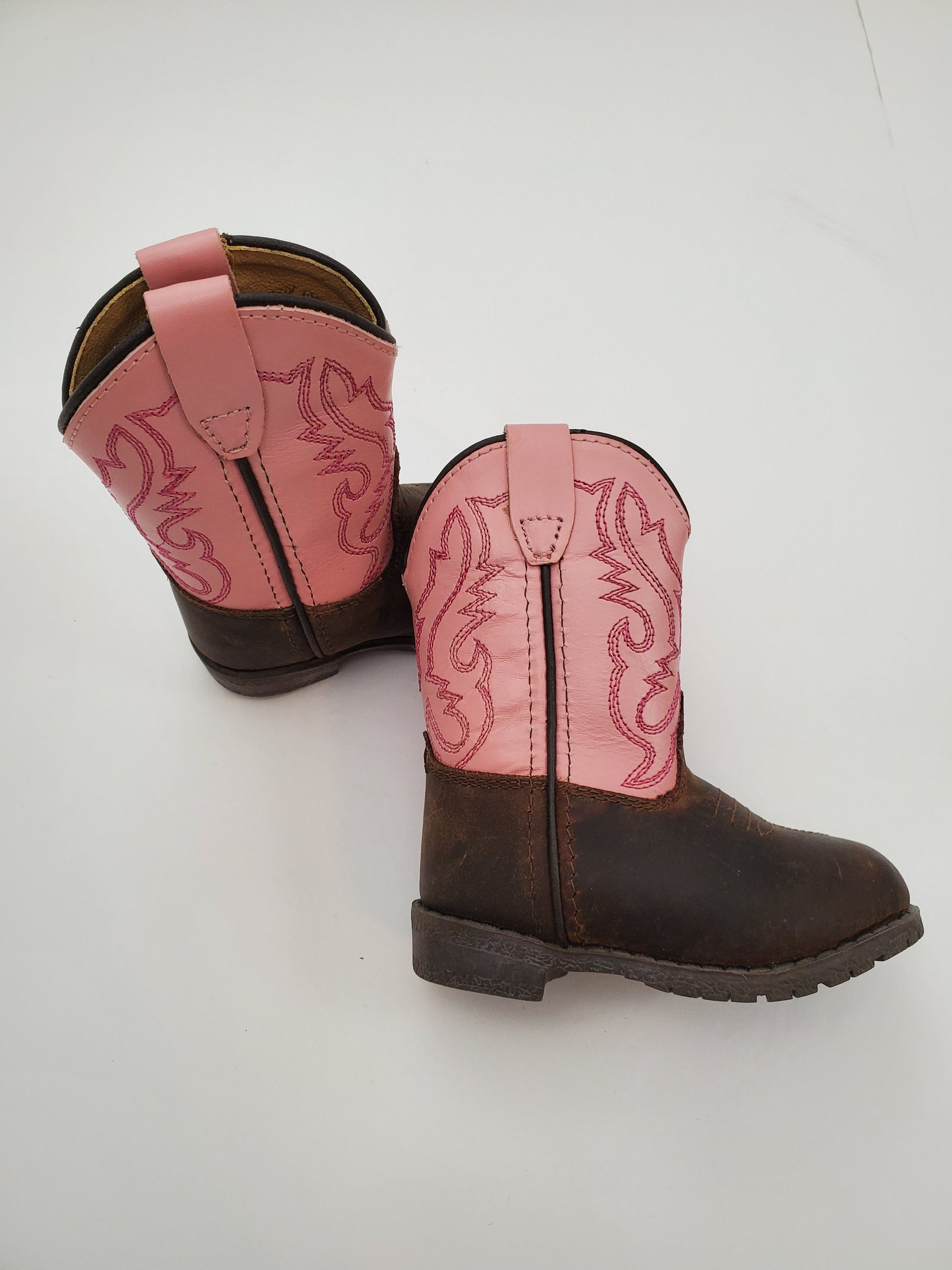 C4 Smoky Cowgirl Boots - Pink & Brown