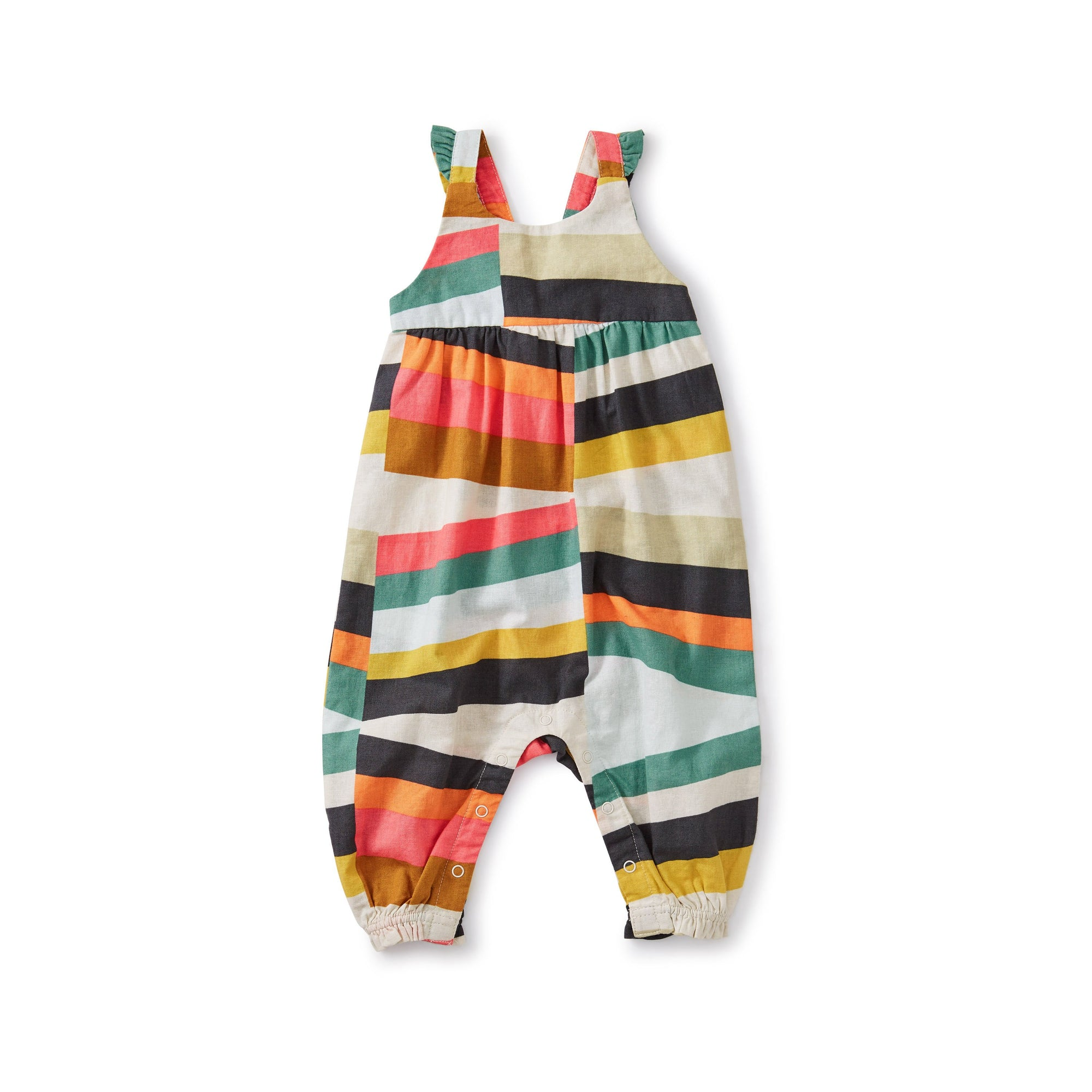 Tea Collection Ruffle Strap Romper - Rug Chevron