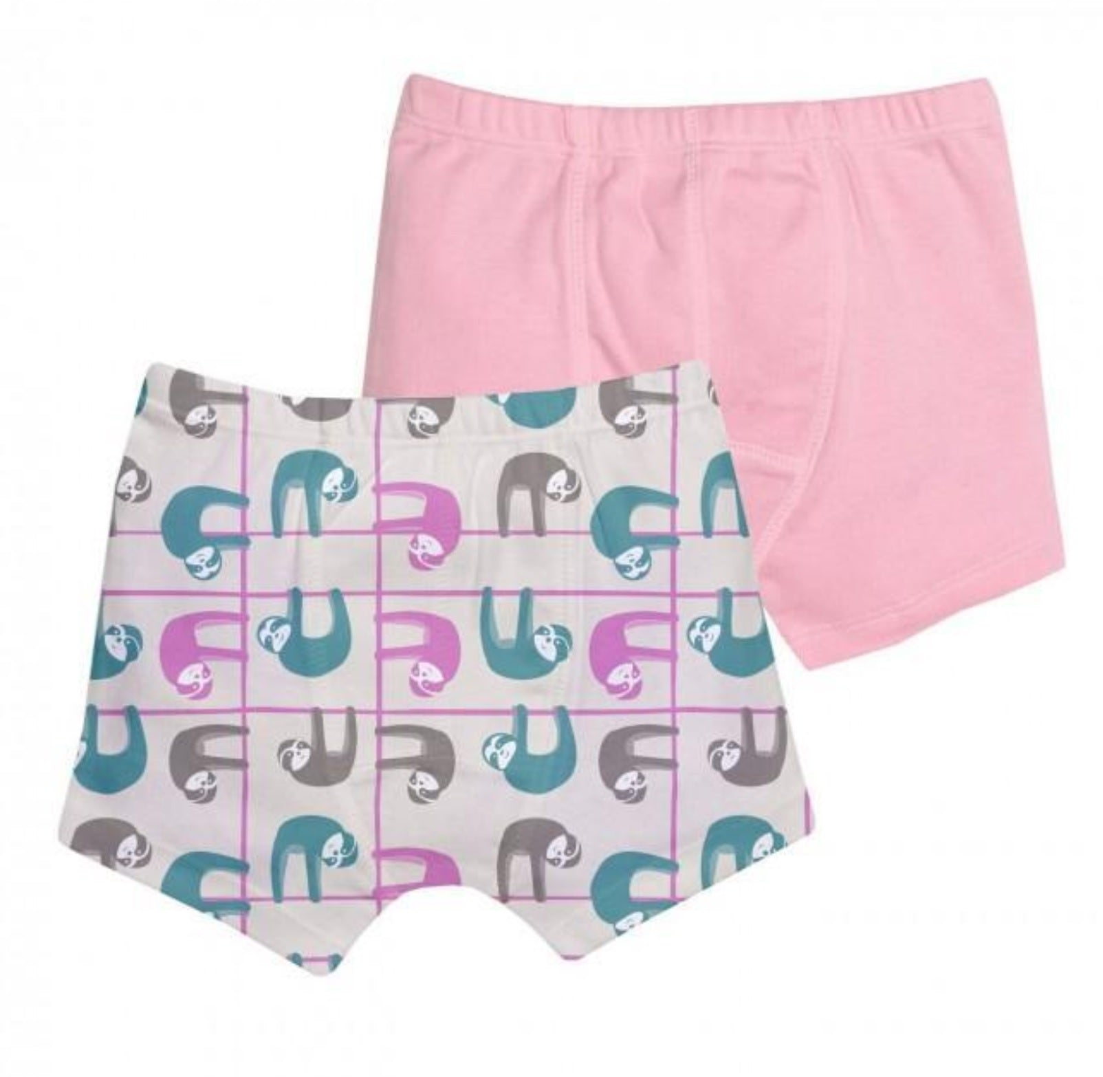 Grovia Unders Toddler Underwear 2pk- Pastel Sloth