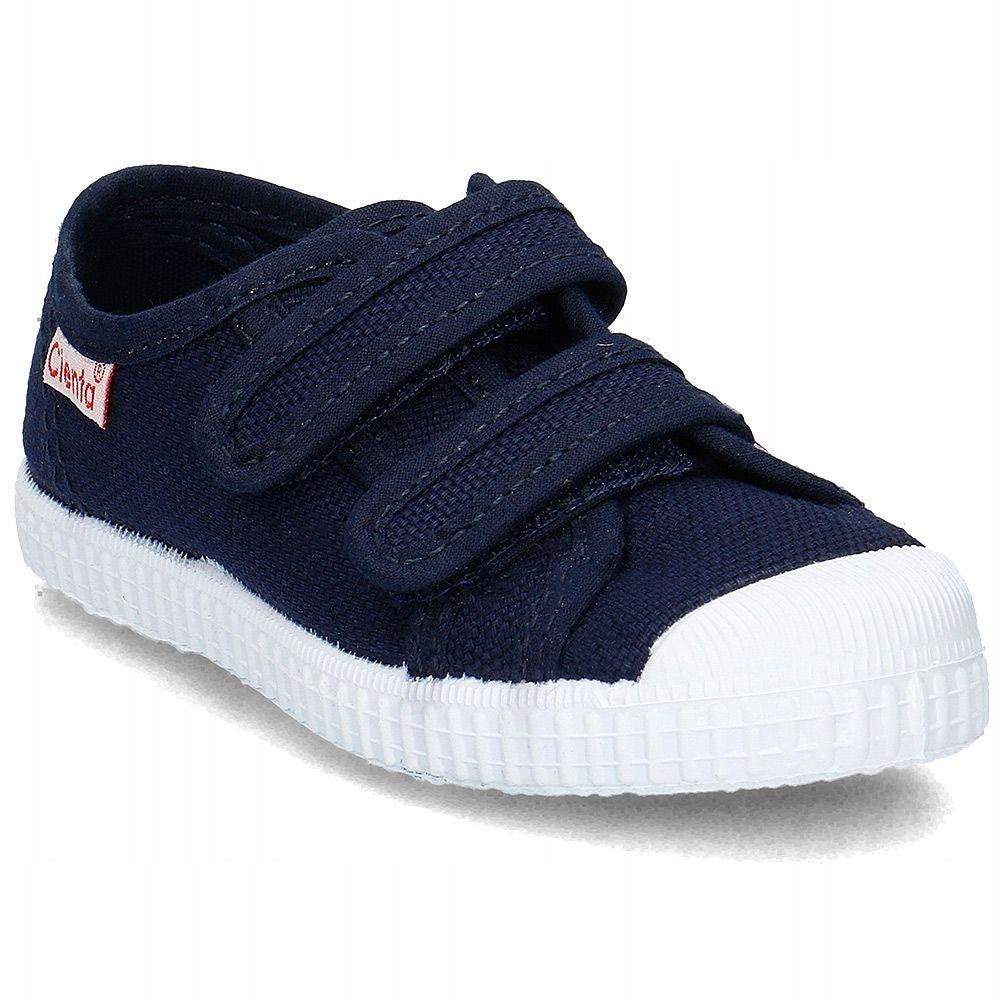 Cienta Double Strap Canvas Sneaker in Marino (Navy), 78020