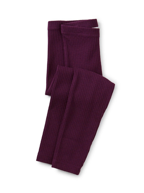 Tea Collection Pointelle Leggings - Elderberry