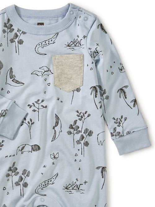 Tea Collection Printed Pocket Romper - Peruvian Pals