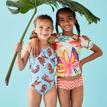 Tea Collection Short Sleeve Rash Guard - Tradewinds Floral