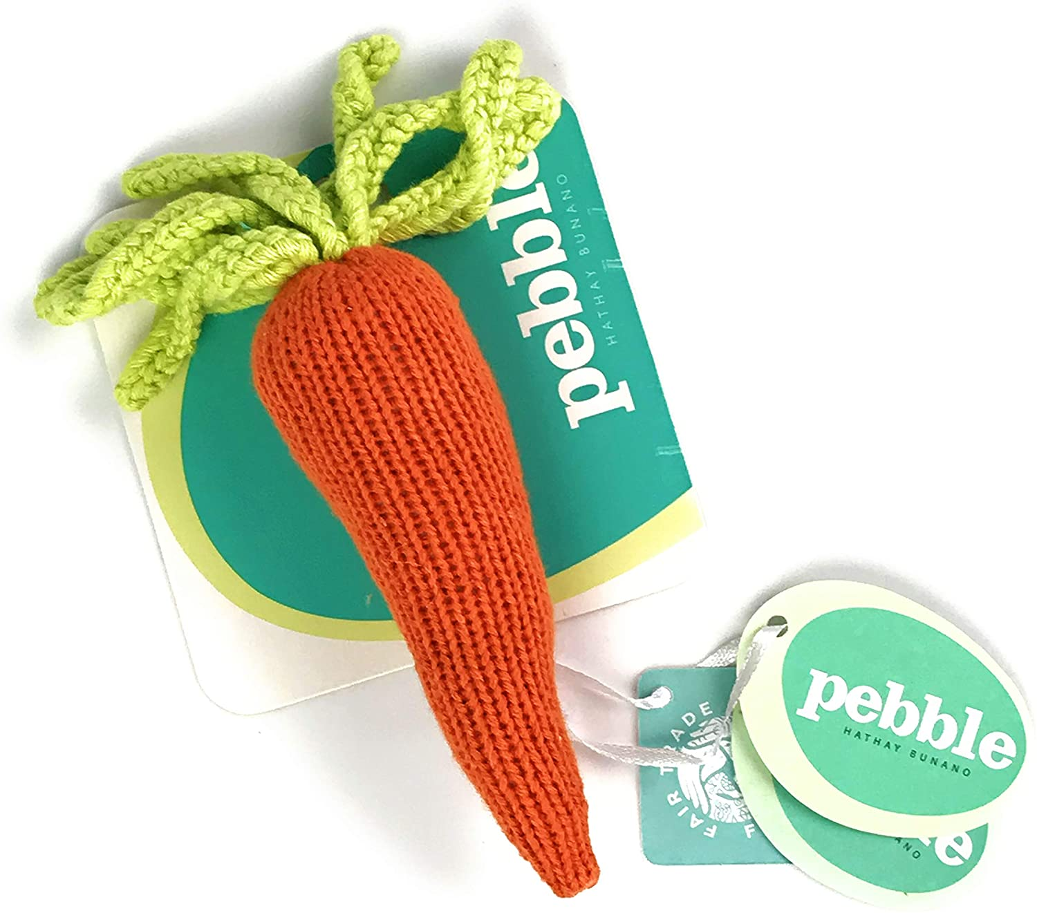 Pebble Rattle - Carrot