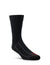 Farm to Feet Adult U.S. Merino Wool Light Cushion 3/4 Crew Socks - Greensboro Black/Black