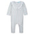 Feather Baby Ruffle-Yoke Romper - Avery on White