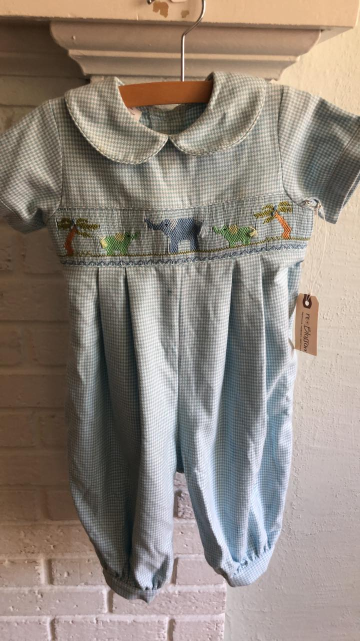 Resale 18 m Amanda Remembered Smocked Elephant Romper