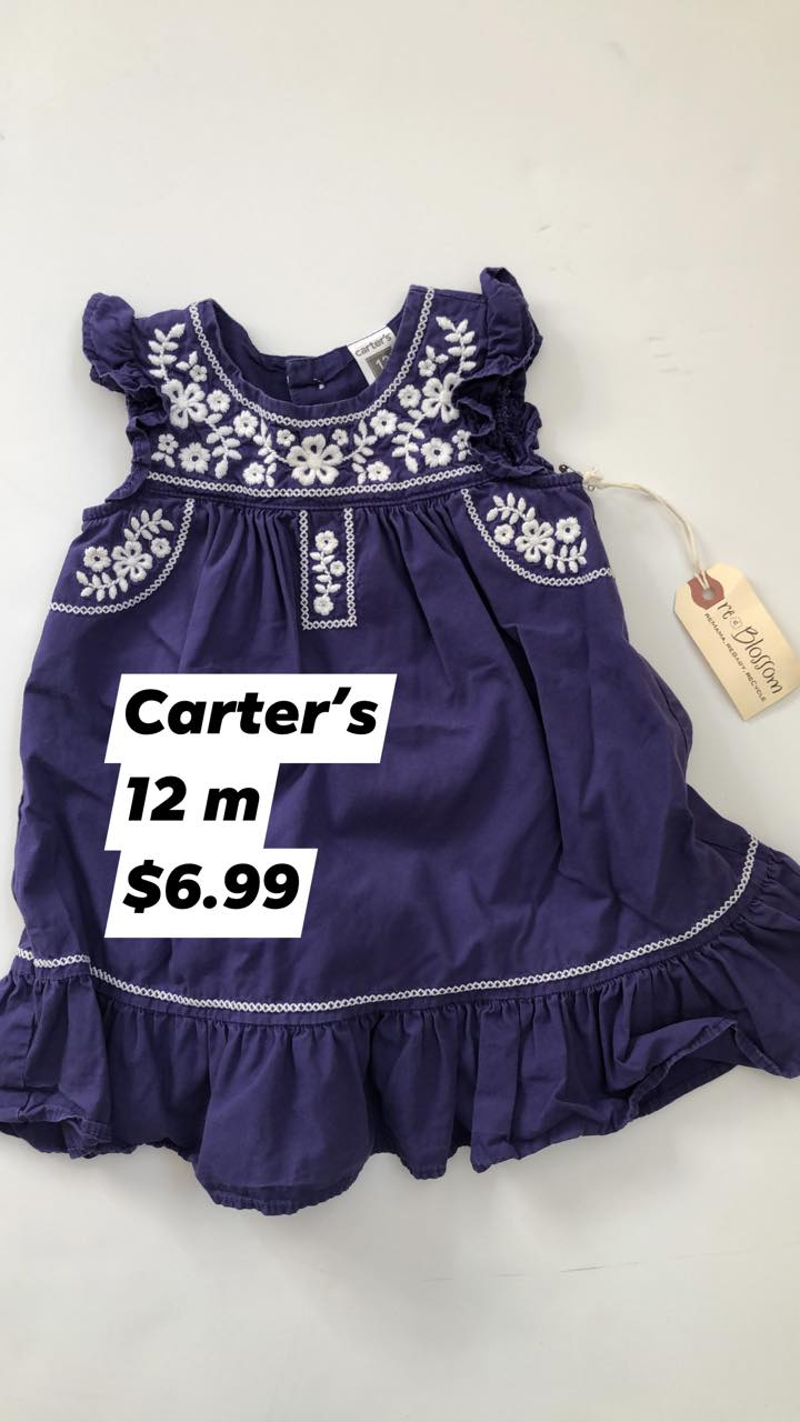 Resale 6-12 m Carter's Purple Dress