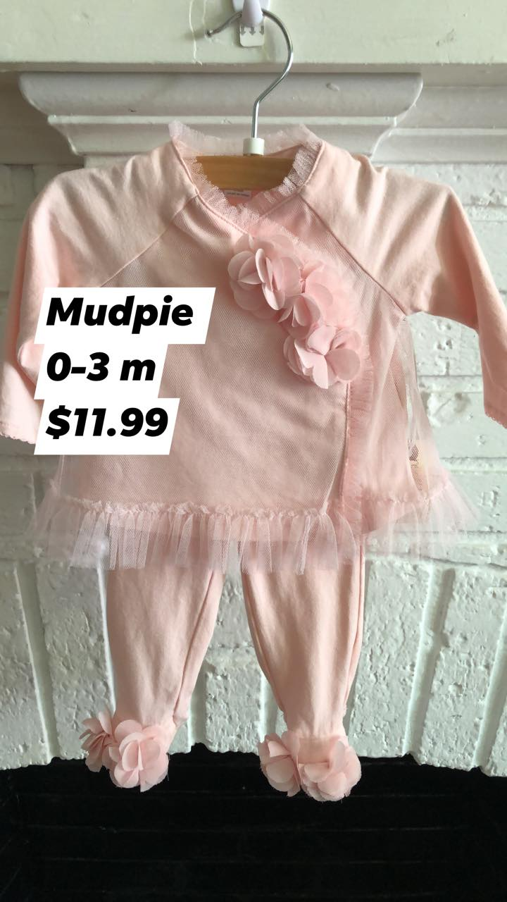 Resale 0-3 m Mudpie Pink Tulle Outfit