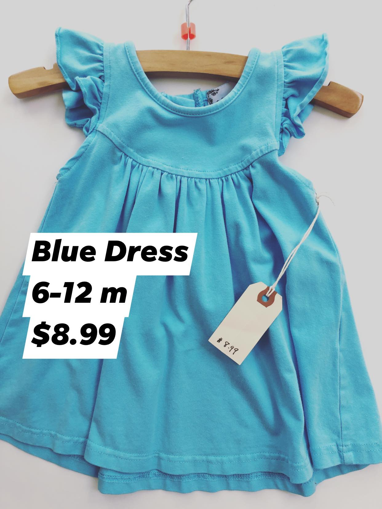 Resale 6-12 m Aqua Cotton Dress