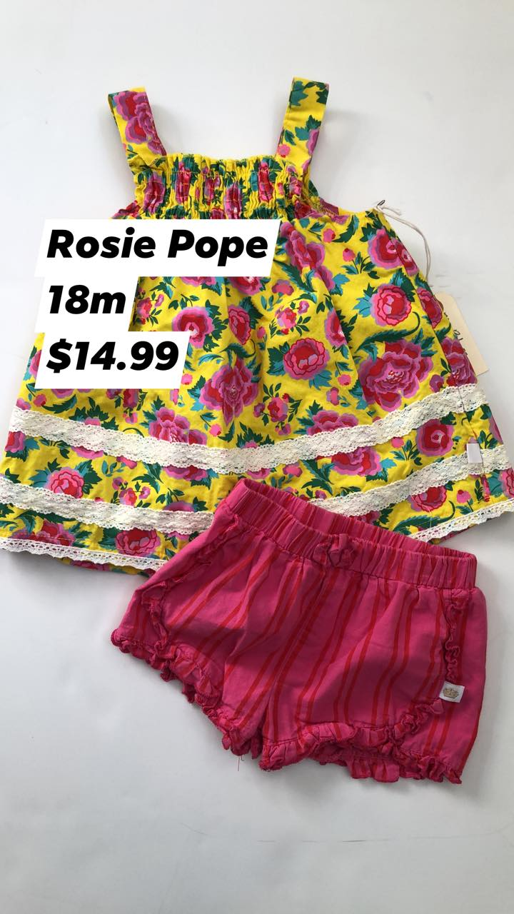 Resale 18 m Rosie Pope Floral Dress & Bloomers