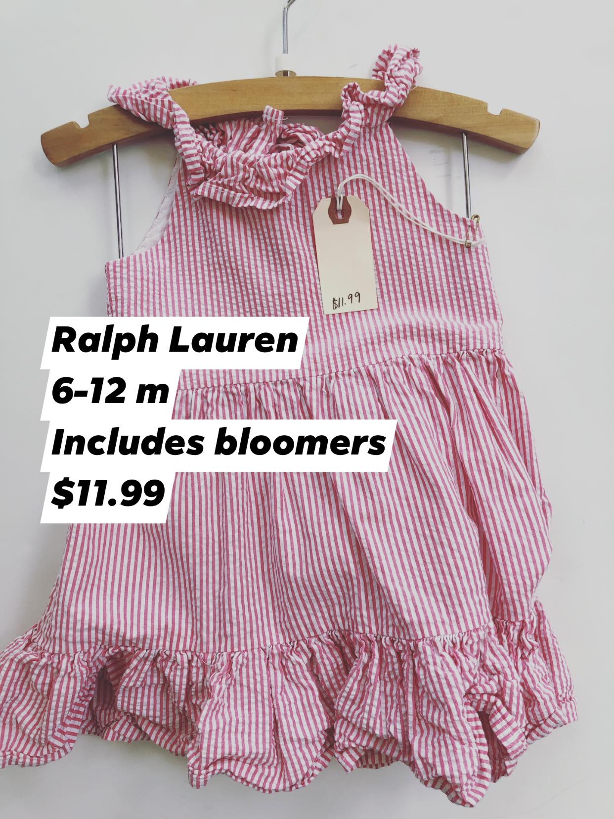 Resale 6-12 m Ralph Lauren Seersucker Dress