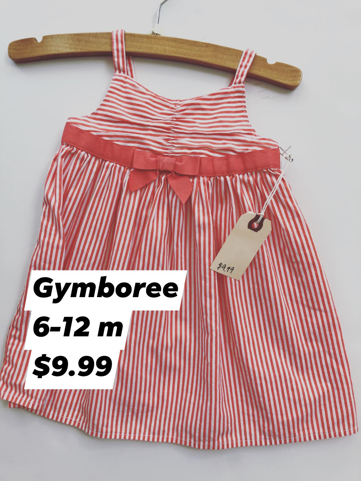 Resale 6-12 m Gymboree Coral Stripe Dress
