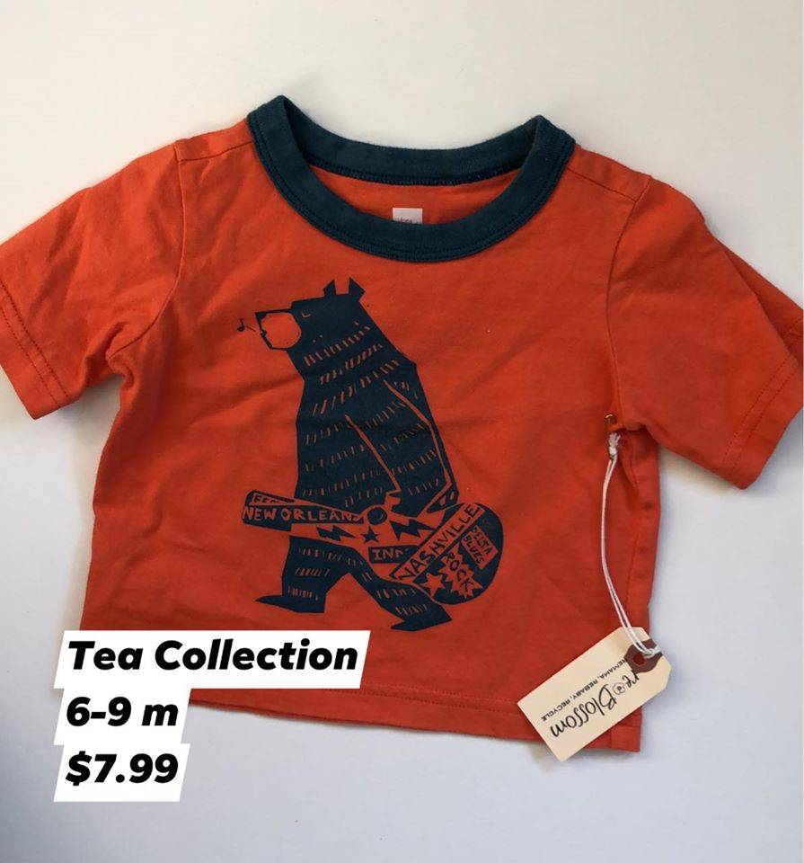 Resale 6-9 m Tea Collection Bear Shirt