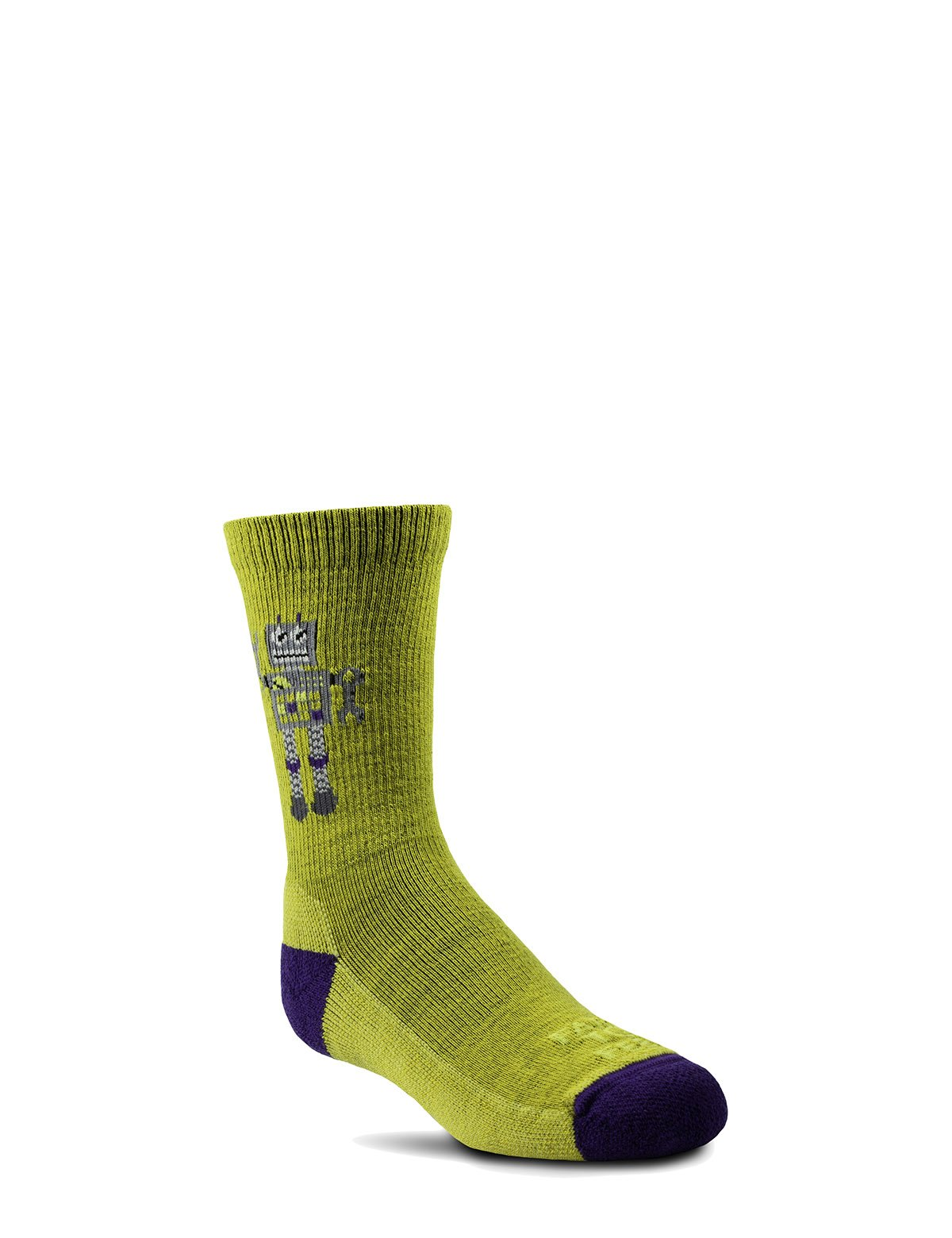 Farm to Feet Kids U.S. Merino Wool Light Cushion Socks - Robot