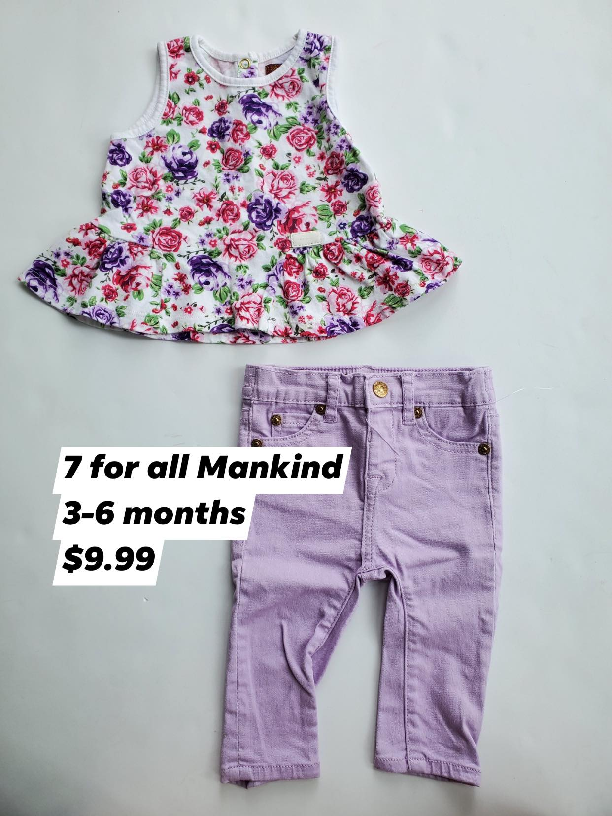 Resale 3-6 m Seven For All Mankind Outfit