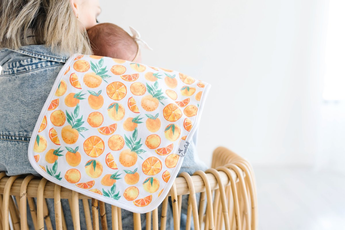 Copper Pearl Burp Cloth (Set of 3) - Citrus