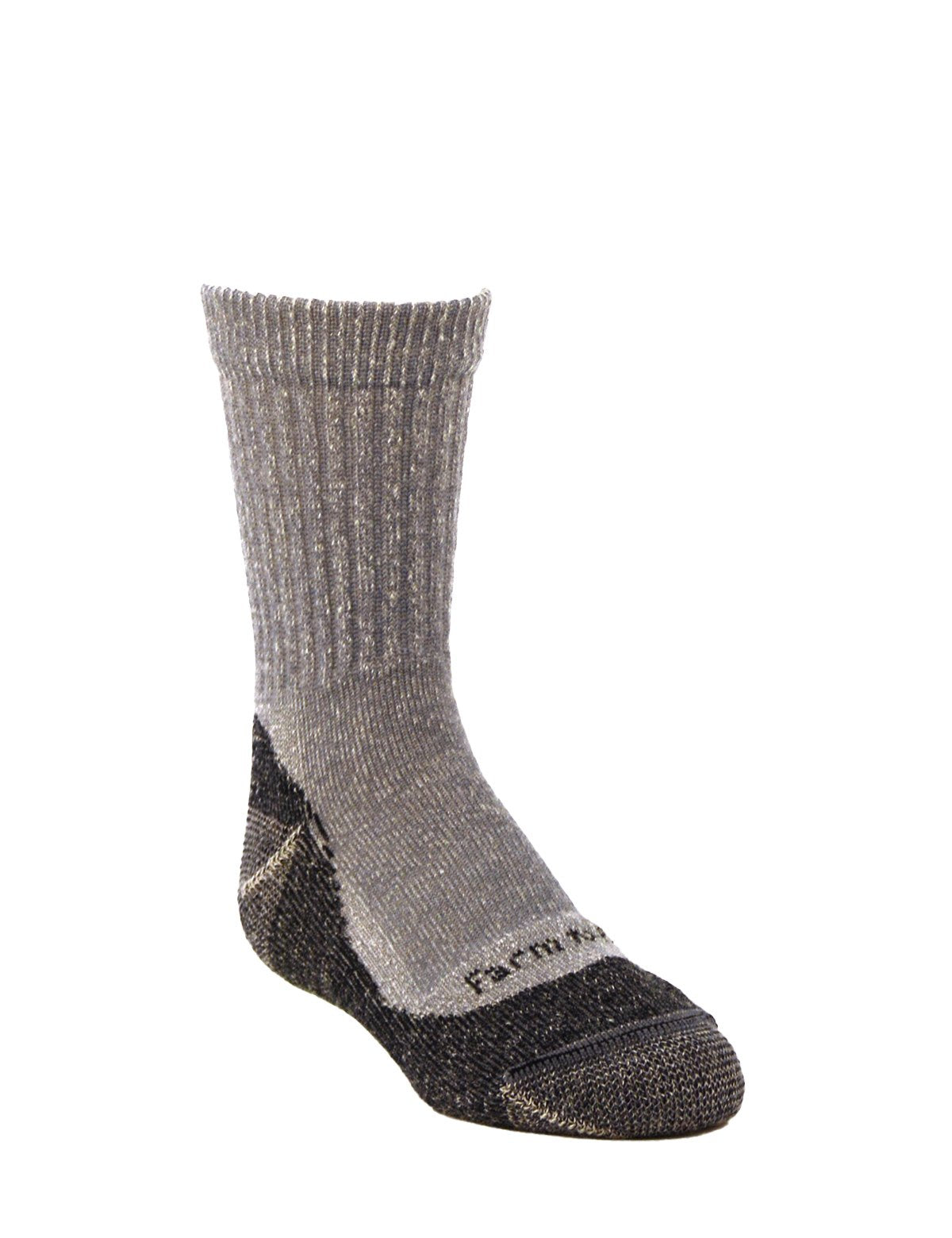 Farm to Feet Kids U.S. Merino Wool No Fly Zone Light Cushion Crew Socks - Boulder Blue