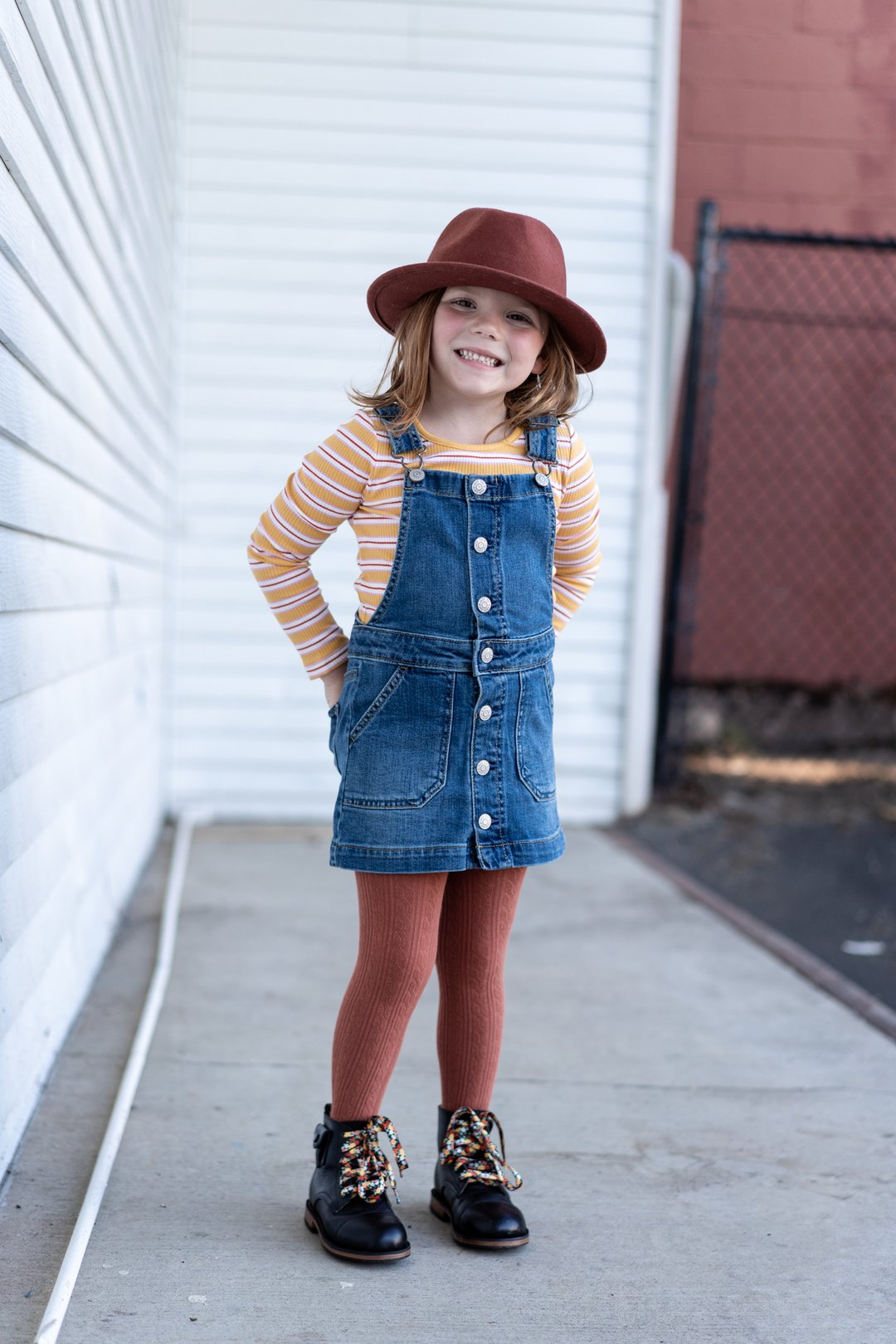 Little Stocking Co. Cable Knit Tights - Rust