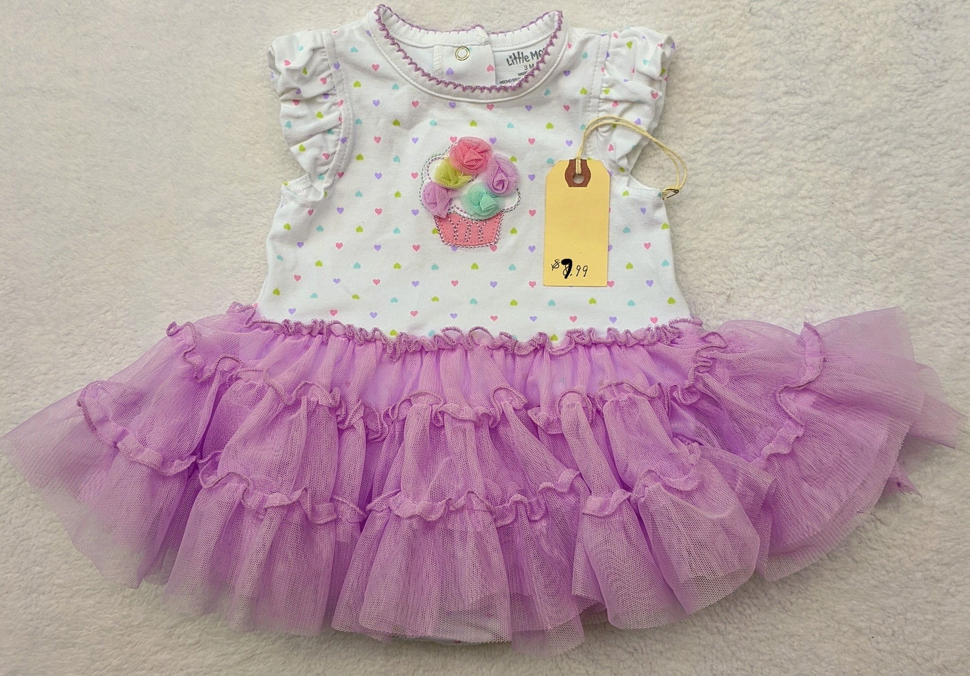 Resale 3 m Little Me Cupcake Tulle Bodysuit