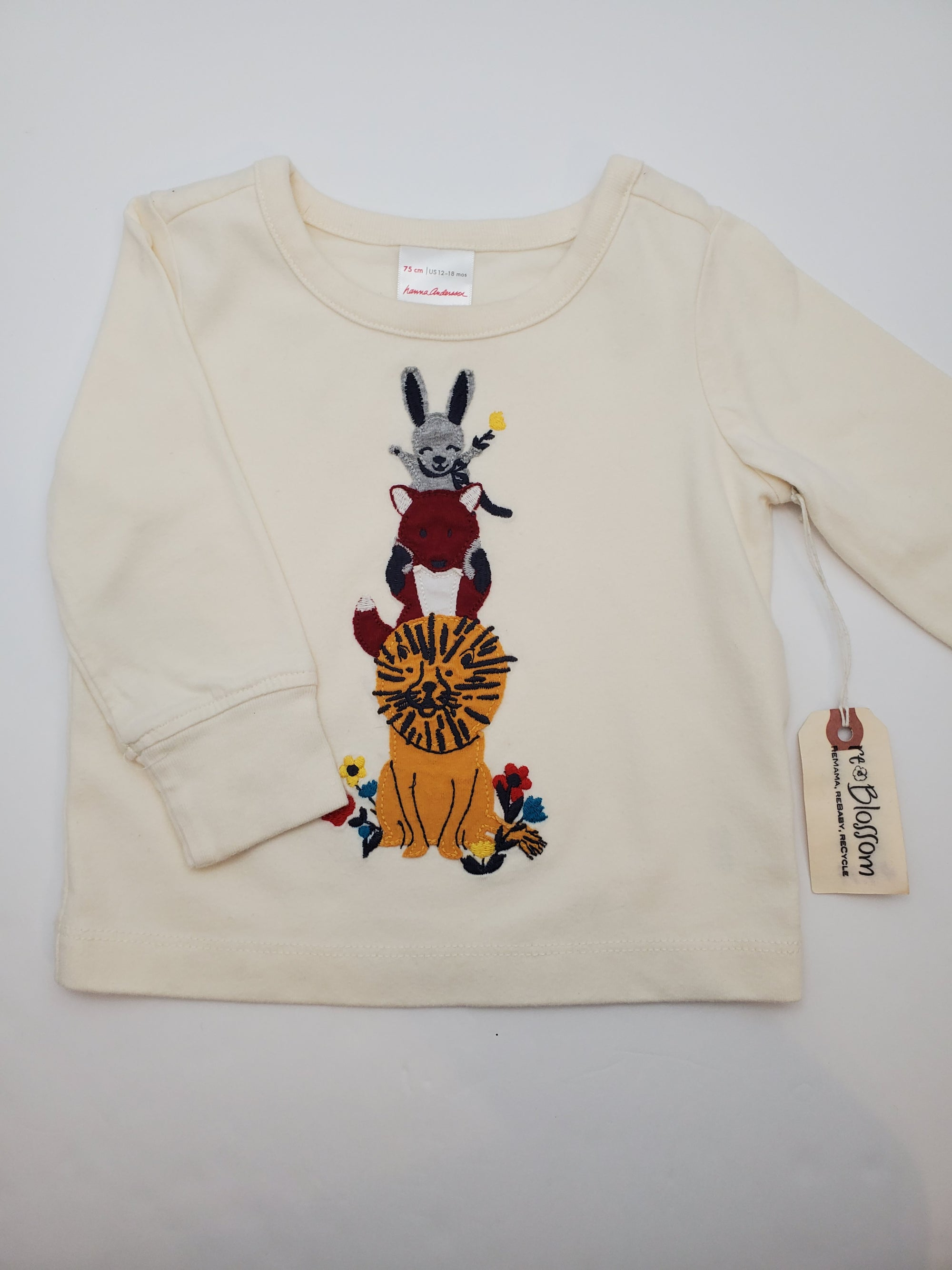 Resale 12-18 m Hanna Andersson Animal Friends Long Sleeve Shirt