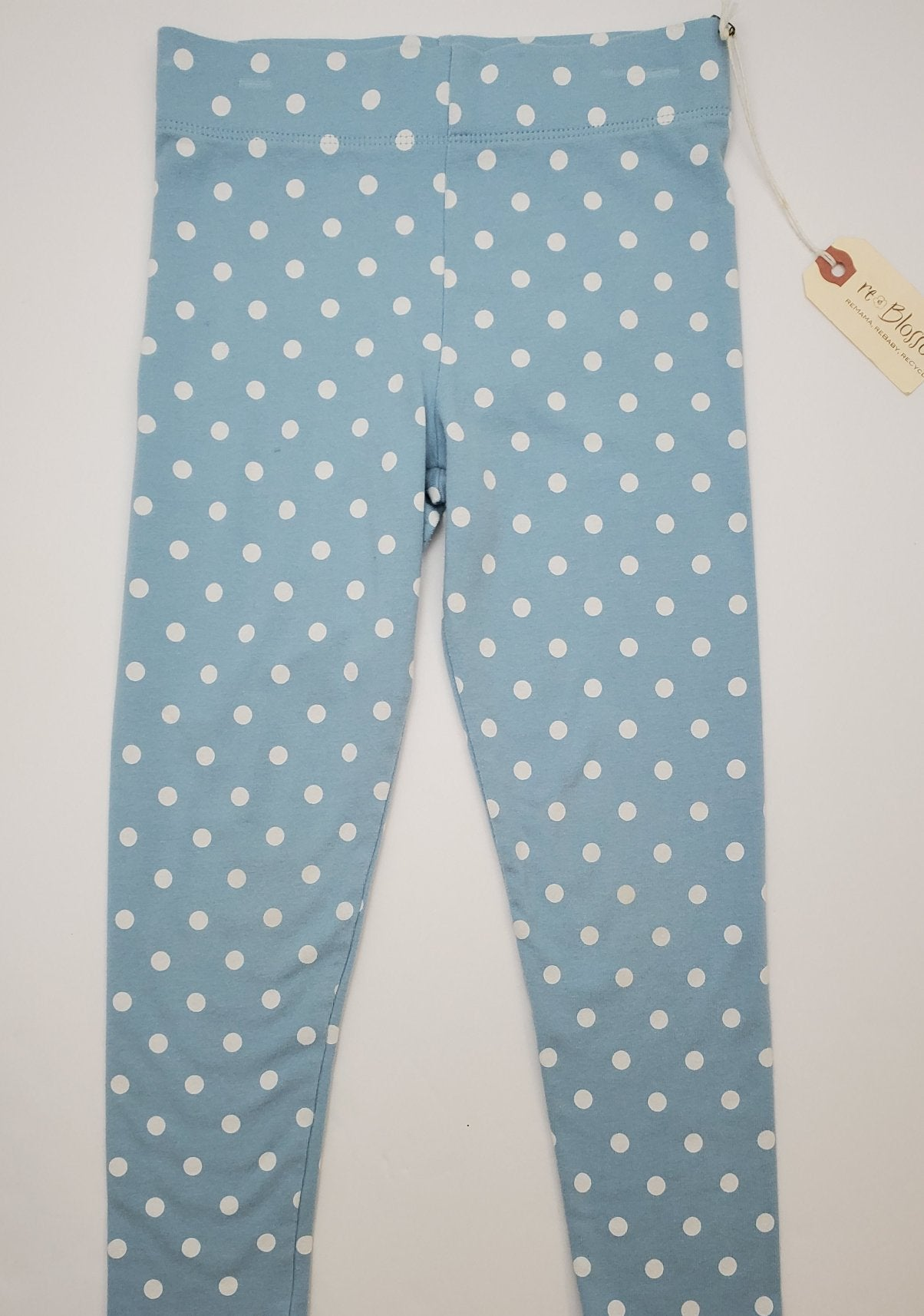 Resale 5-6 Y Mini Boden Blue / White Polka Dot Leggings
