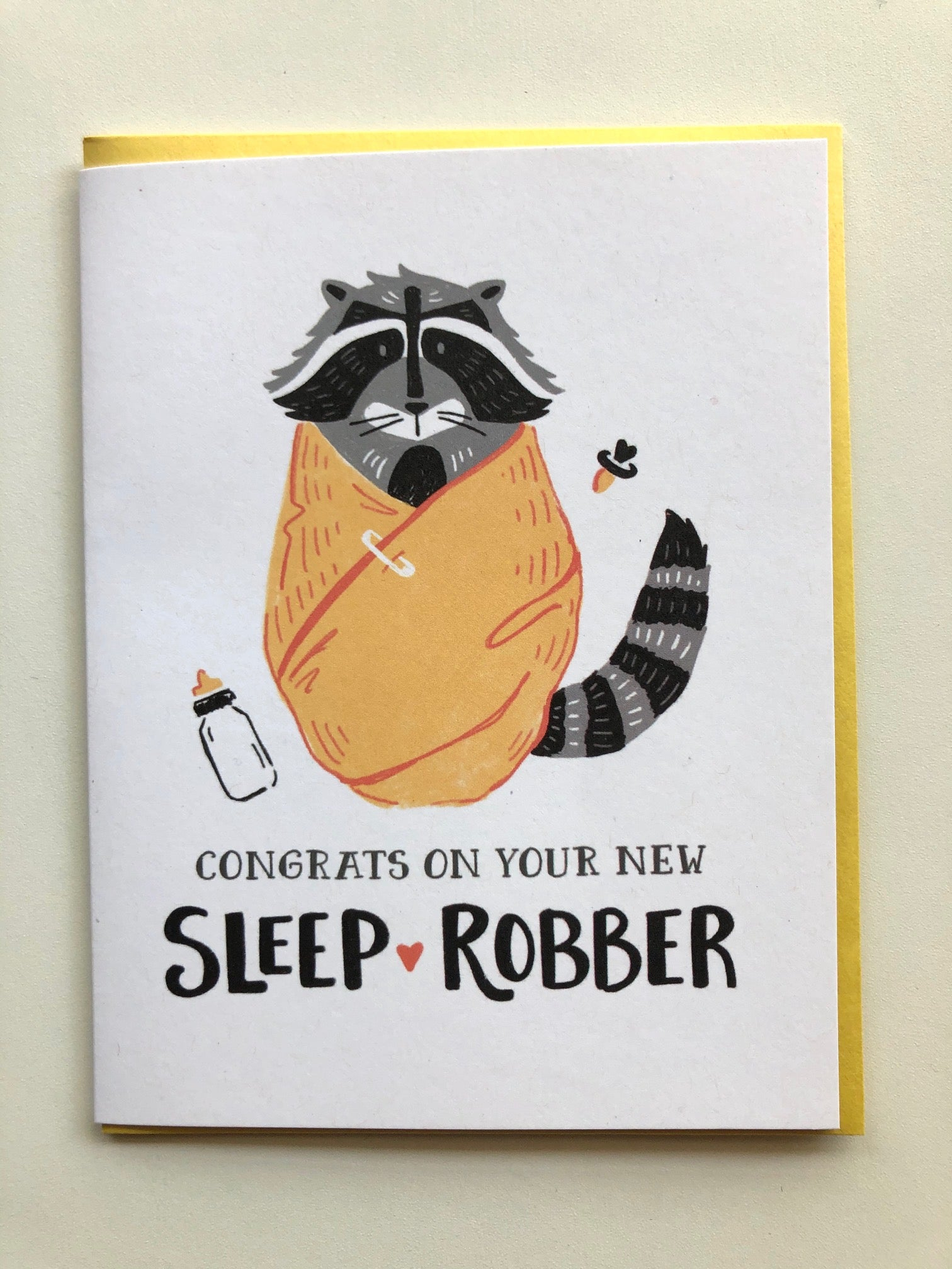 Congrats on Your New Sleep Robber Baby Card