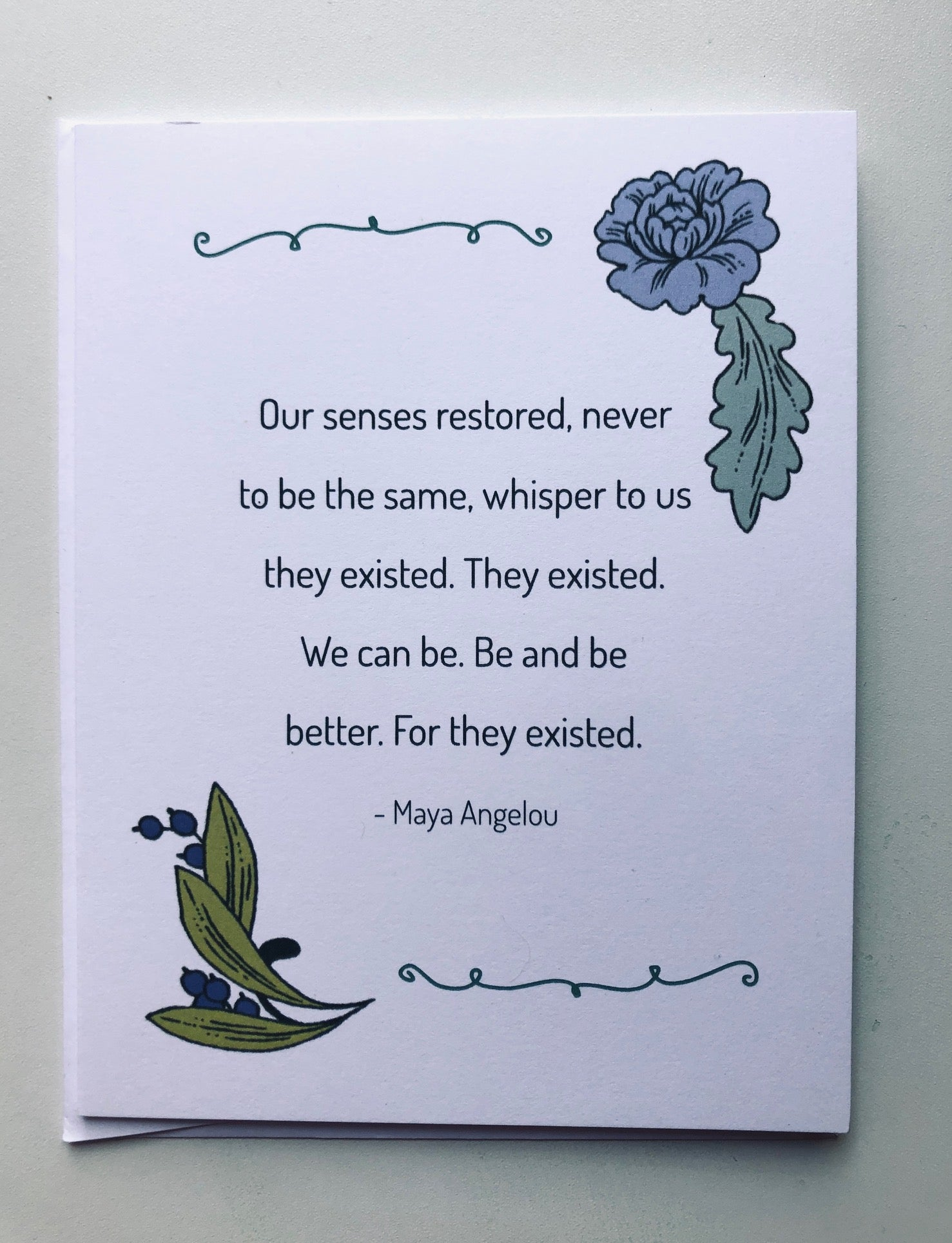 Maya Angelou They Existed Cards